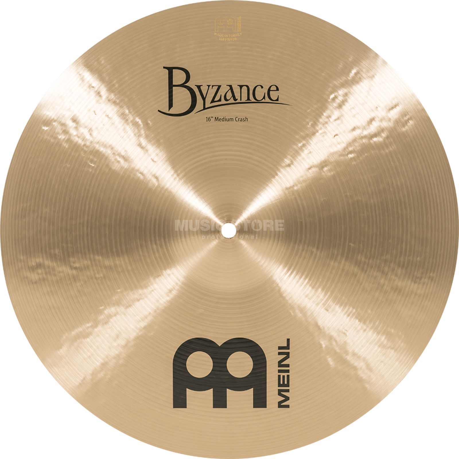 "Meinl Byzance Medium Crash 16"" B16MC, Traditional Finish Product Image"