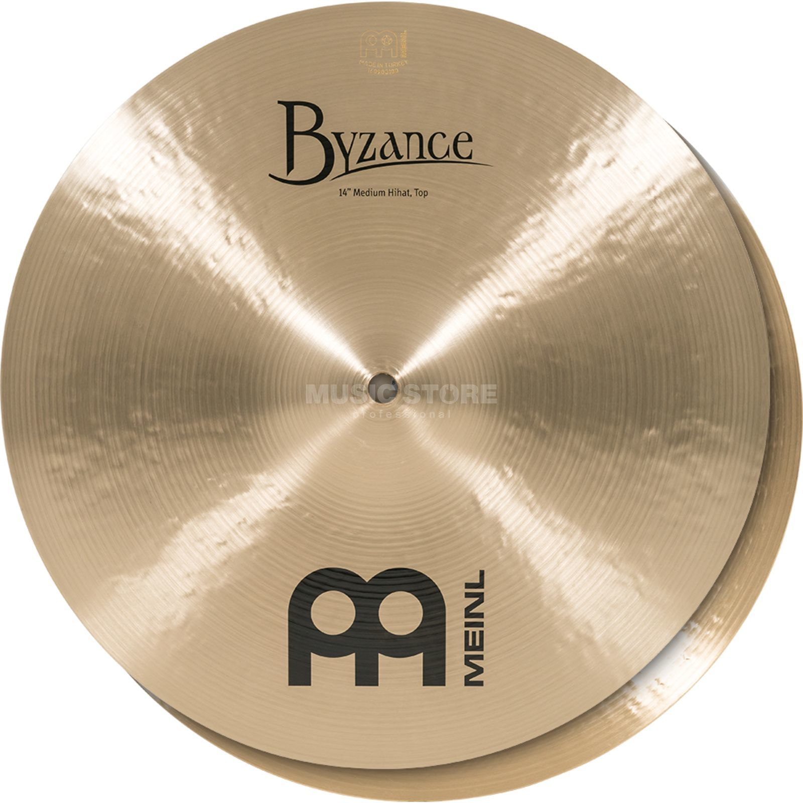"Meinl Byzance Medium HiHat 14"" B14MH, Traditional Finish Product Image"