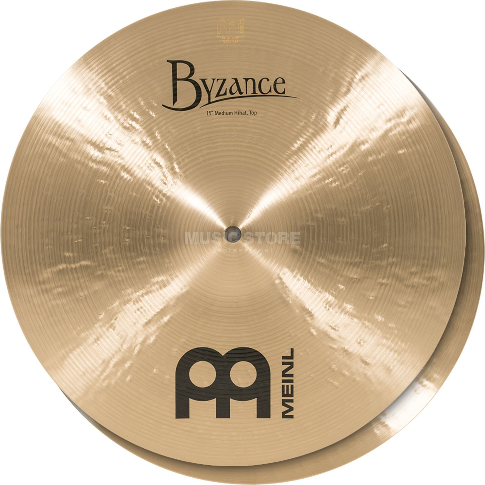"Meinl Byzance Medium HiHat 15"", B15MH, Traditional Finish Produktbillede"