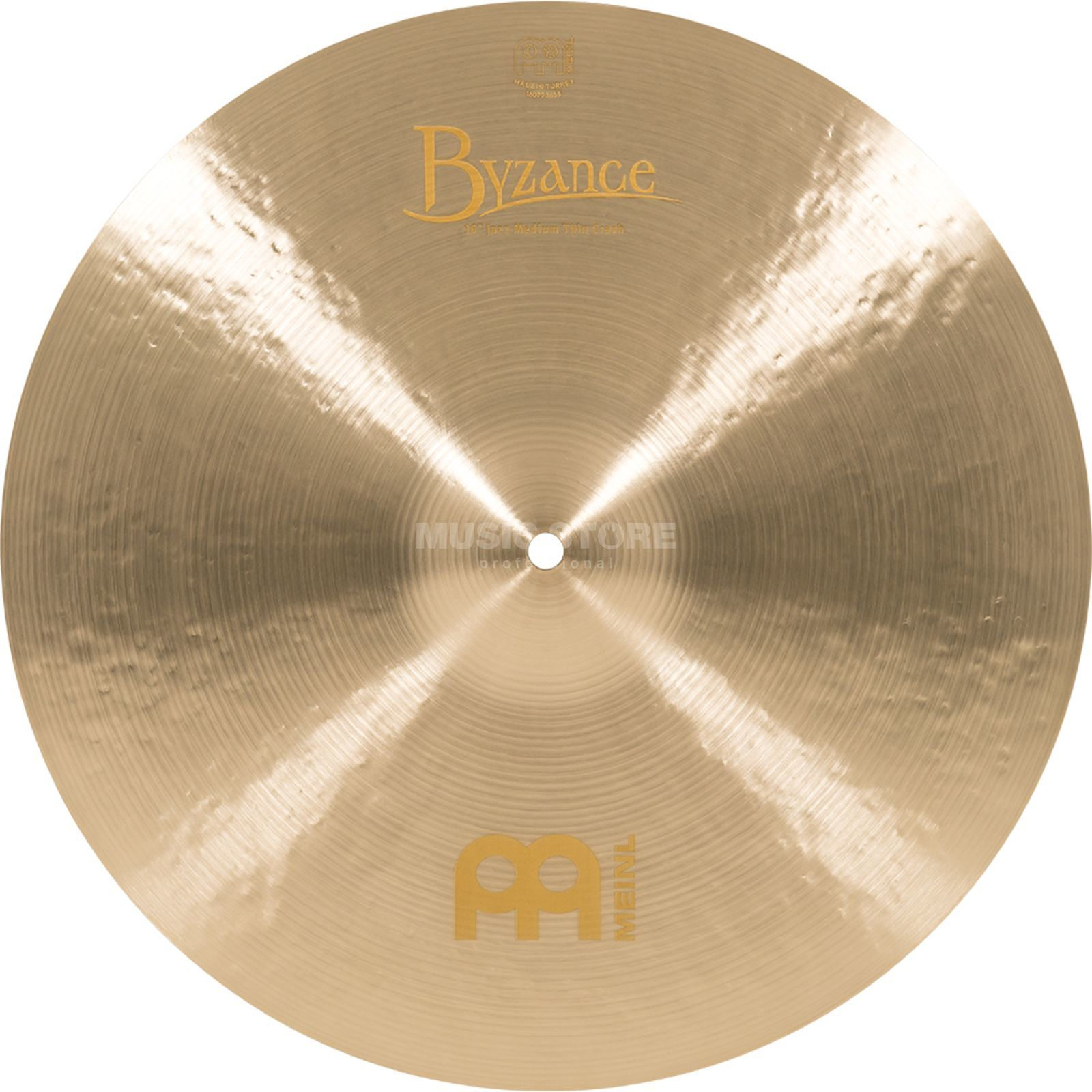 "Meinl Byzance Medium Thin Crash 16"" B16JMTC, Jazz Finish Produktbild"