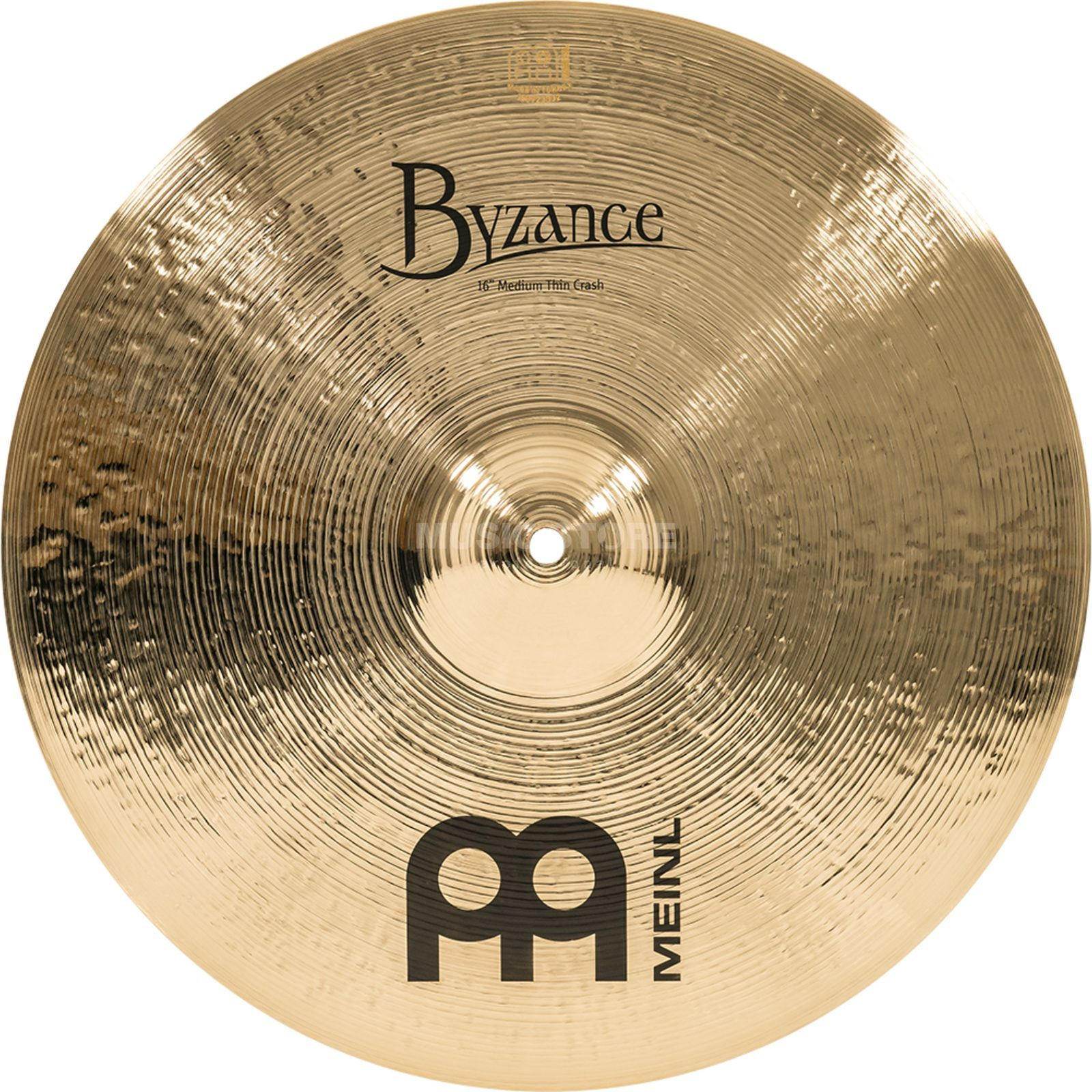 "Meinl Byzance Medium Thin Crash 16"" B16MTC-B, Brilliant Immagine prodotto"