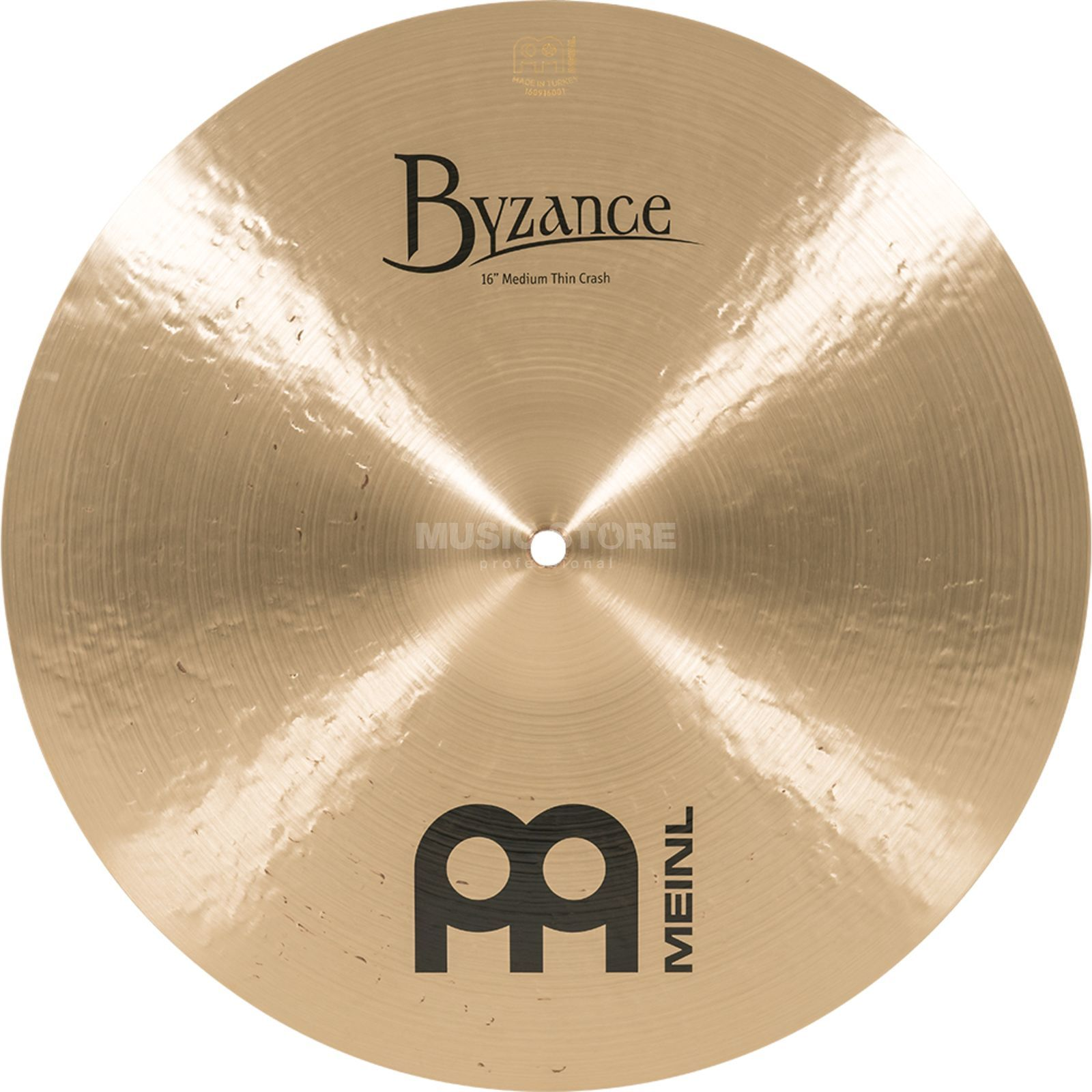 "Meinl Byzance Medium Thin Crash 16"" B16MTC,Traditional Finish Immagine prodotto"