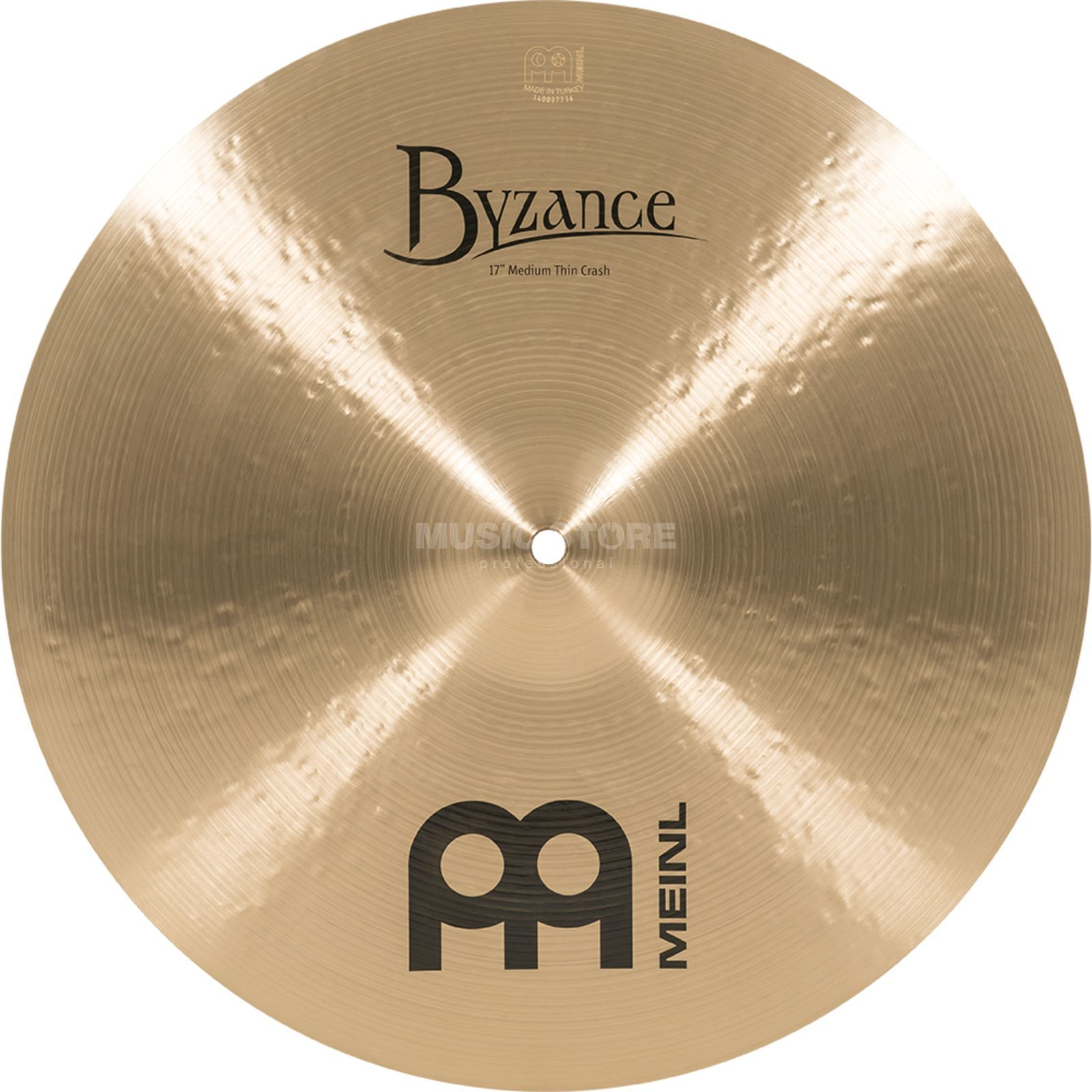"Meinl Byzance Medium Thin Crash 17"" B17MTC, Traditional Finish Produktbillede"
