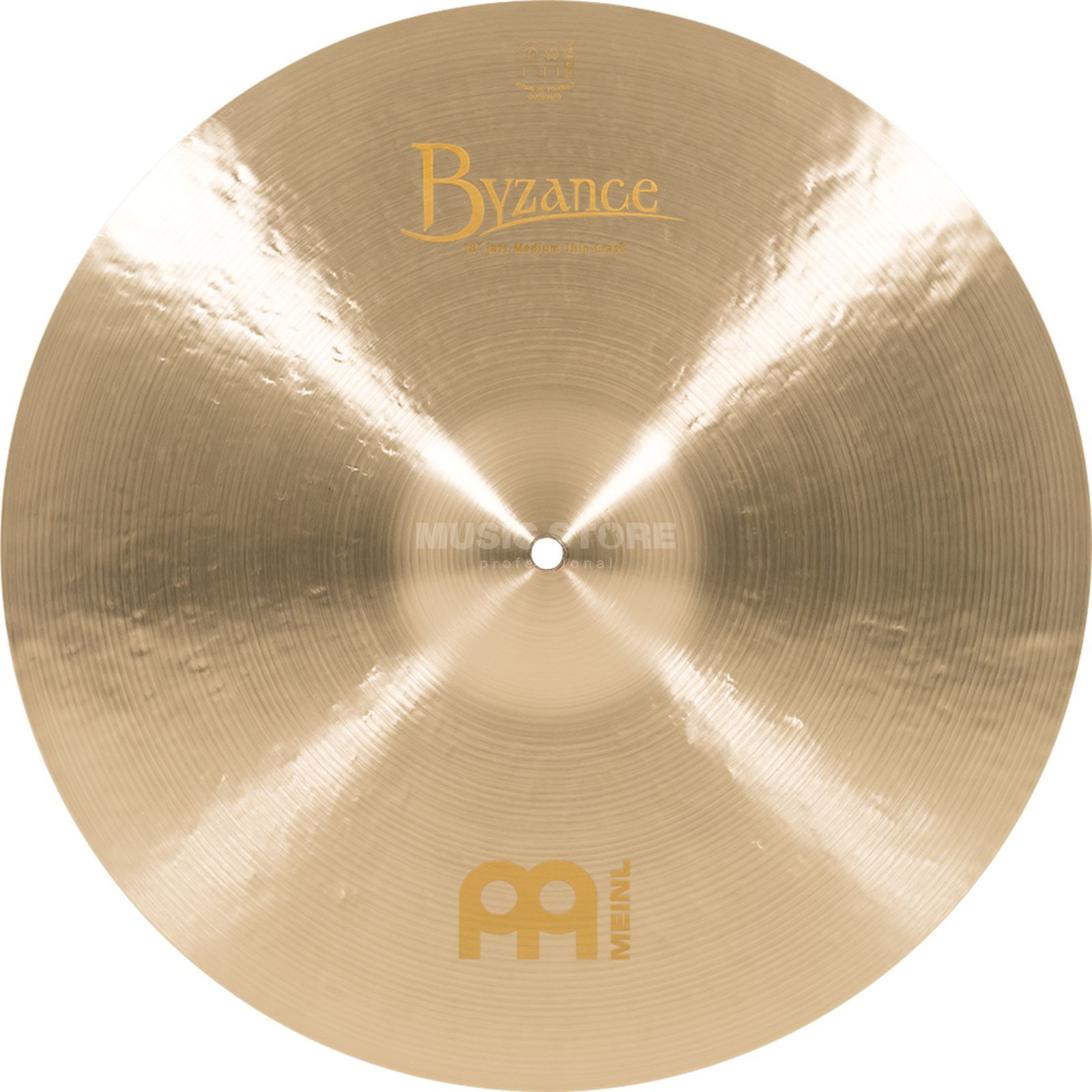 "Meinl Byzance Medium Thin Crash 18"", B18JMTC, Jazz Finish Produktbillede"