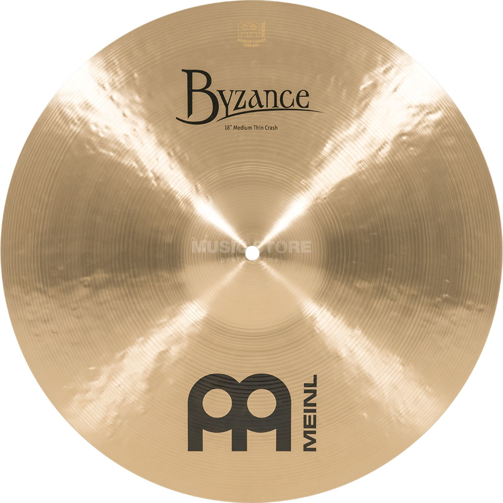 "Meinl Byzance Medium Thin Crash 18"" B18MTC, Traditional Finish Produktbillede"