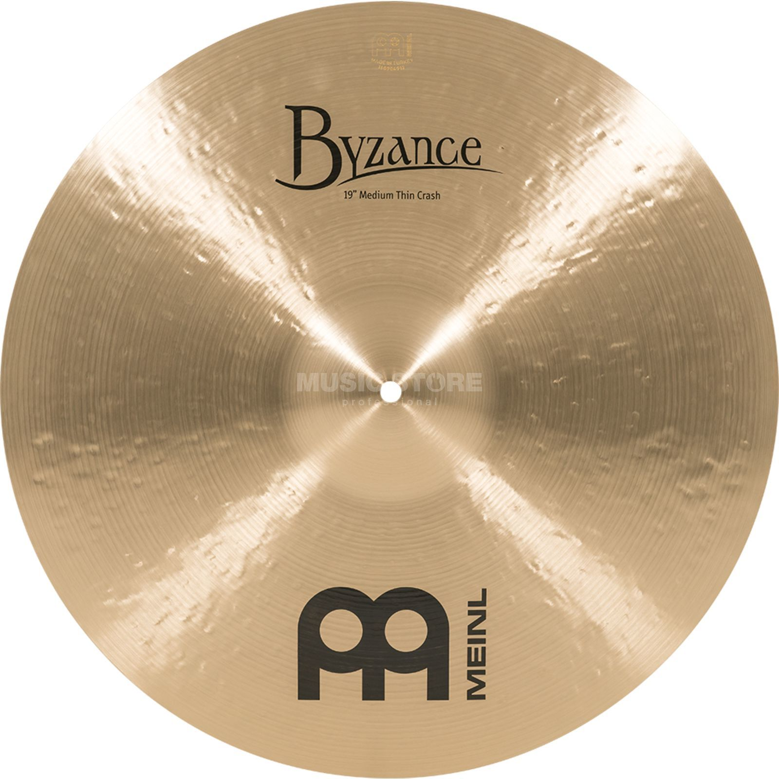 "Meinl Byzance Medium Thin Crash 19"" B19MTC,Traditional Finish Productafbeelding"