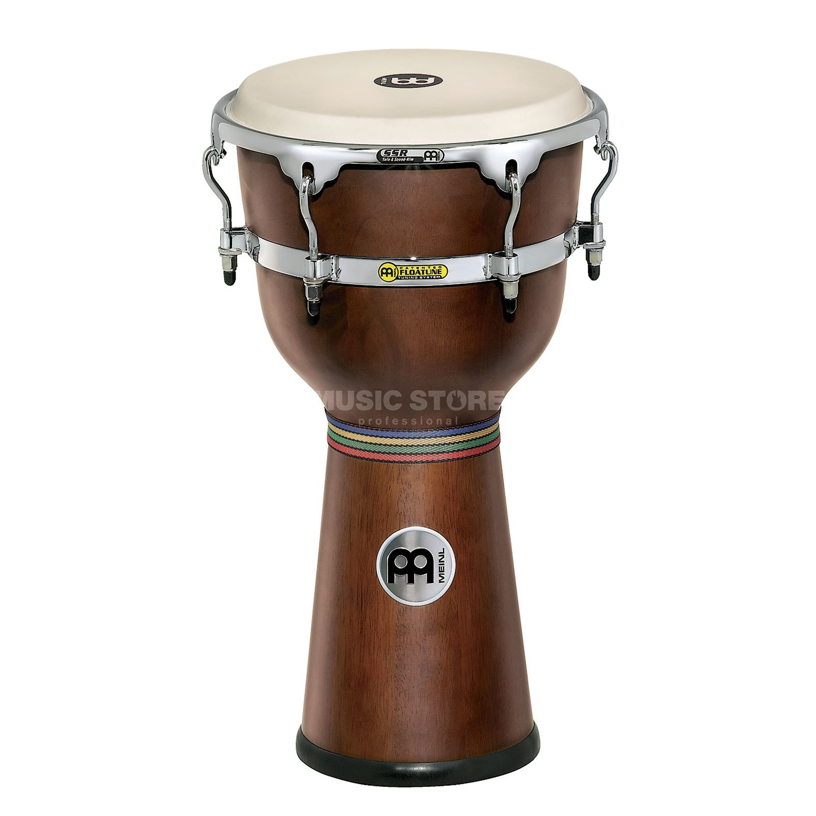 "Meinl Floatune Djembe 12"" DJW3-AB-M, African Brown Product Image"