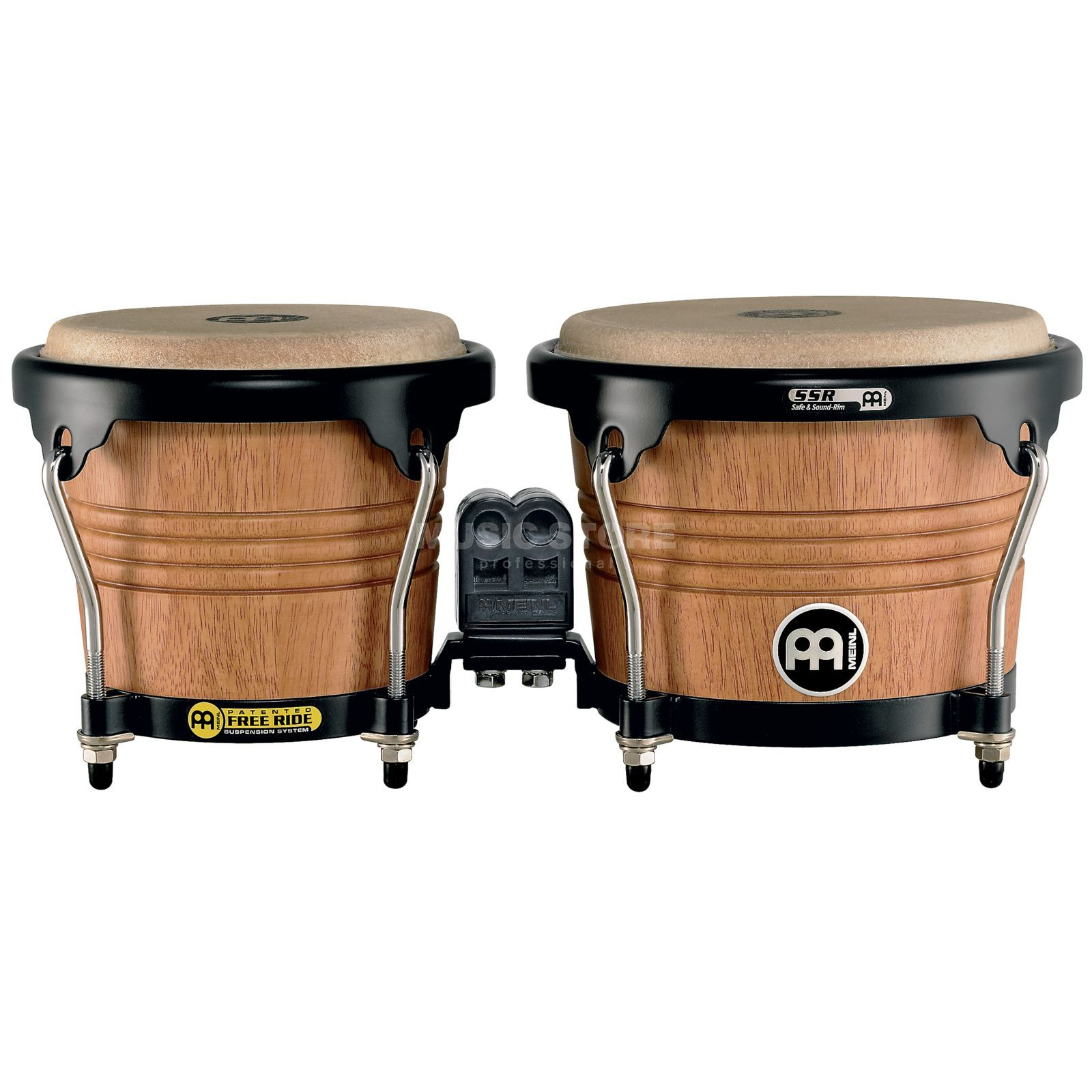 "Meinl FreeRide Bongos FWB190SNT-M, 6 3/4""+8"" Super Natural #SNT-M Product Image"
