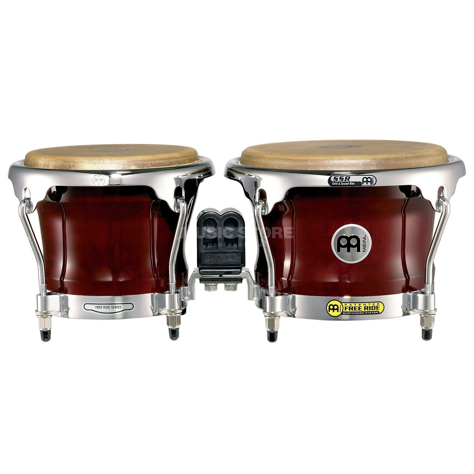 "Meinl FreeRide Bongos FWB400CR, 7""+8 1/2"", Cherry Red #CR Image du produit"
