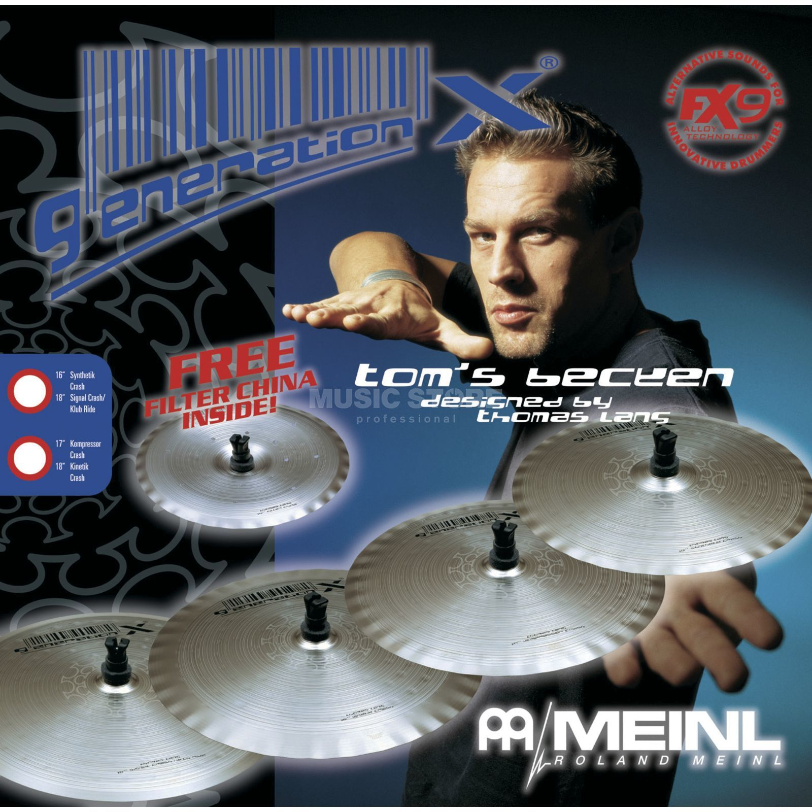 "Meinl Generation X Thomas Lang Set 14""Ch, 16"" +18"" Cr Product Image"