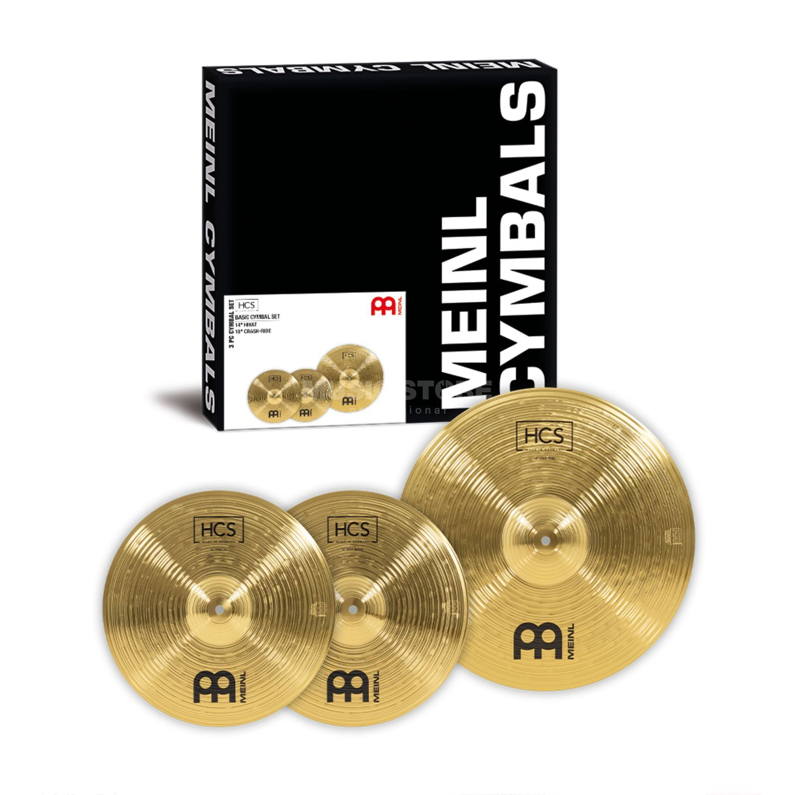 "Meinl HCS Cymbal Set 14"" HiHat, 18"" Crash Ride Produktbillede"