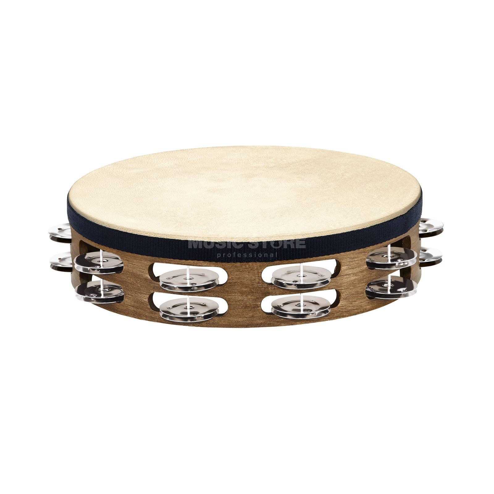 "Meinl Headed Tambourine TAH2WB, 10"", Double Row Produktbillede"