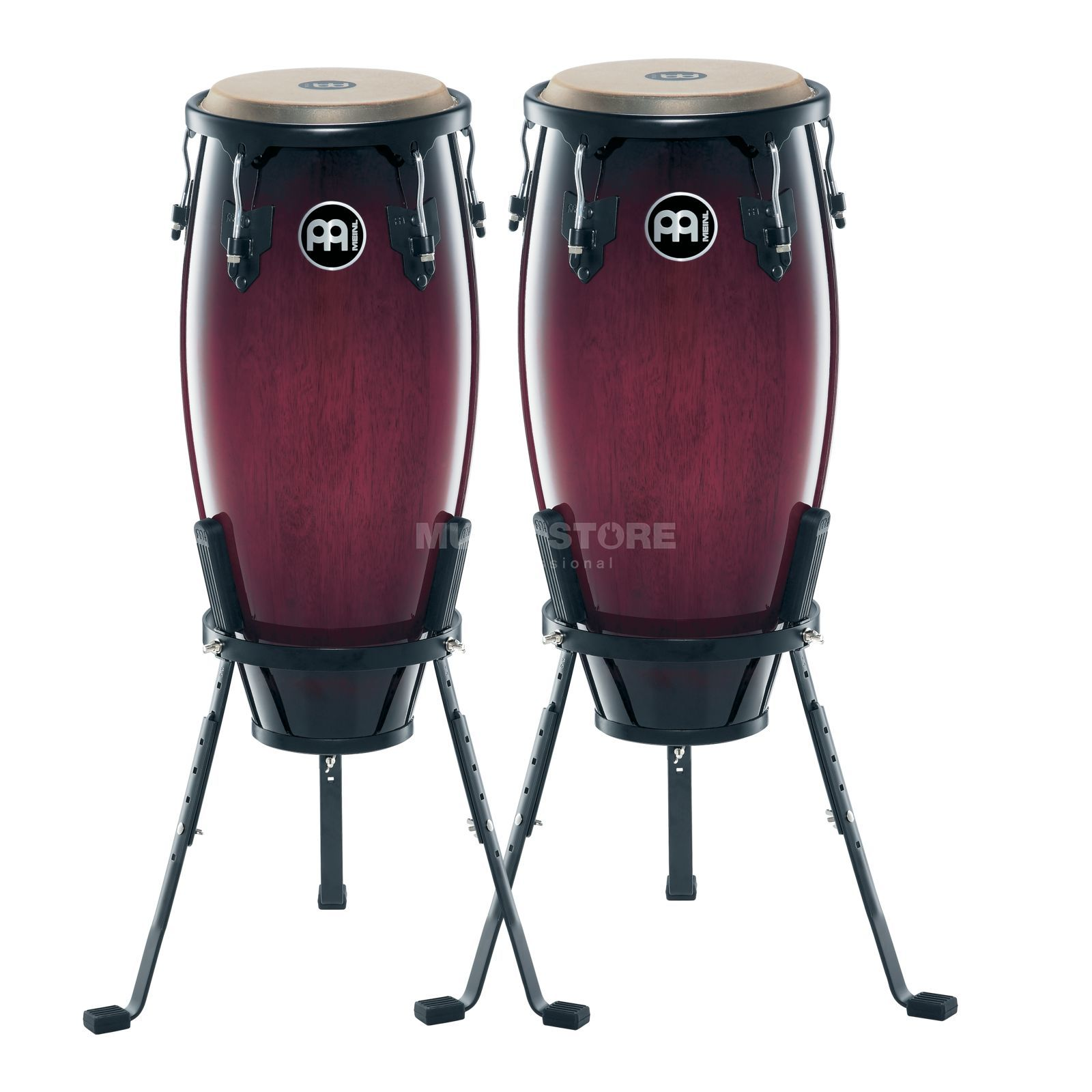 "Meinl Headliner Conga Set HC555-WRB, 10""+11"", Wine Red Burst #WRB Изображение товара"
