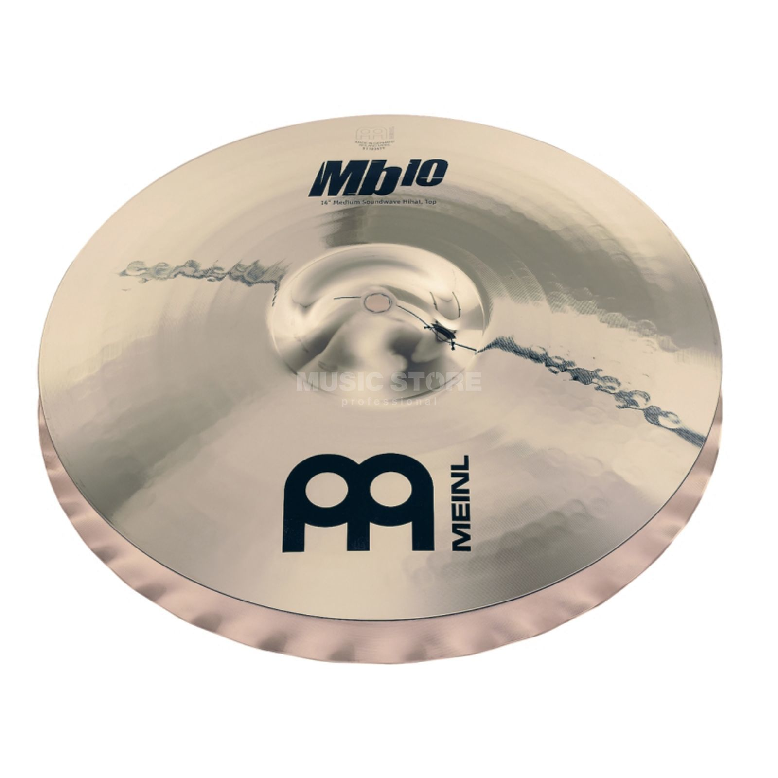 "Meinl MB10 Heavy Soundwave HiHat 14"" MB10-14HSW-B, Brilliant Finish Produktbillede"