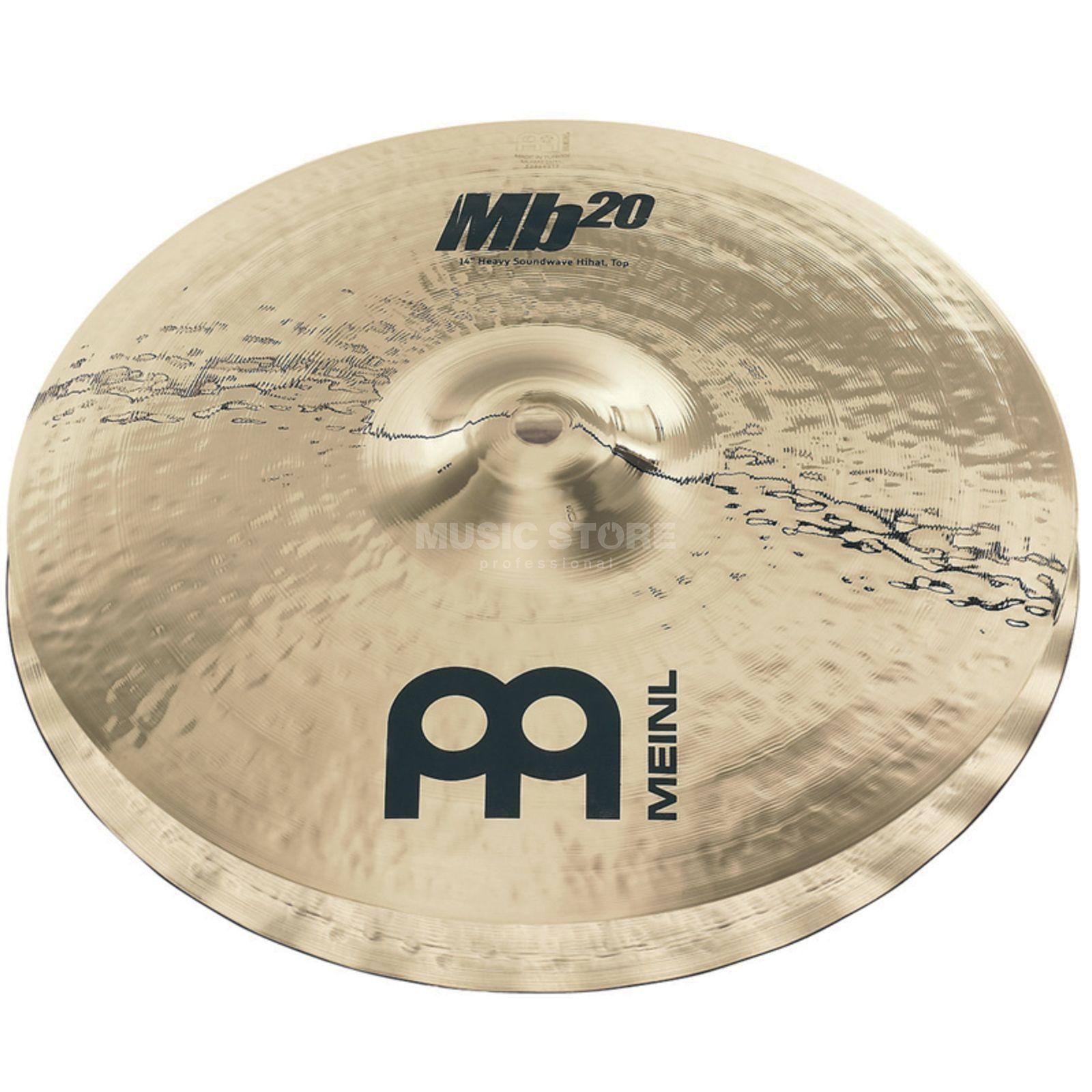 "Meinl MB20 Heavy Soundwave HiHat 14"" MB20-14HSW-B,Brilliant Produktbild"