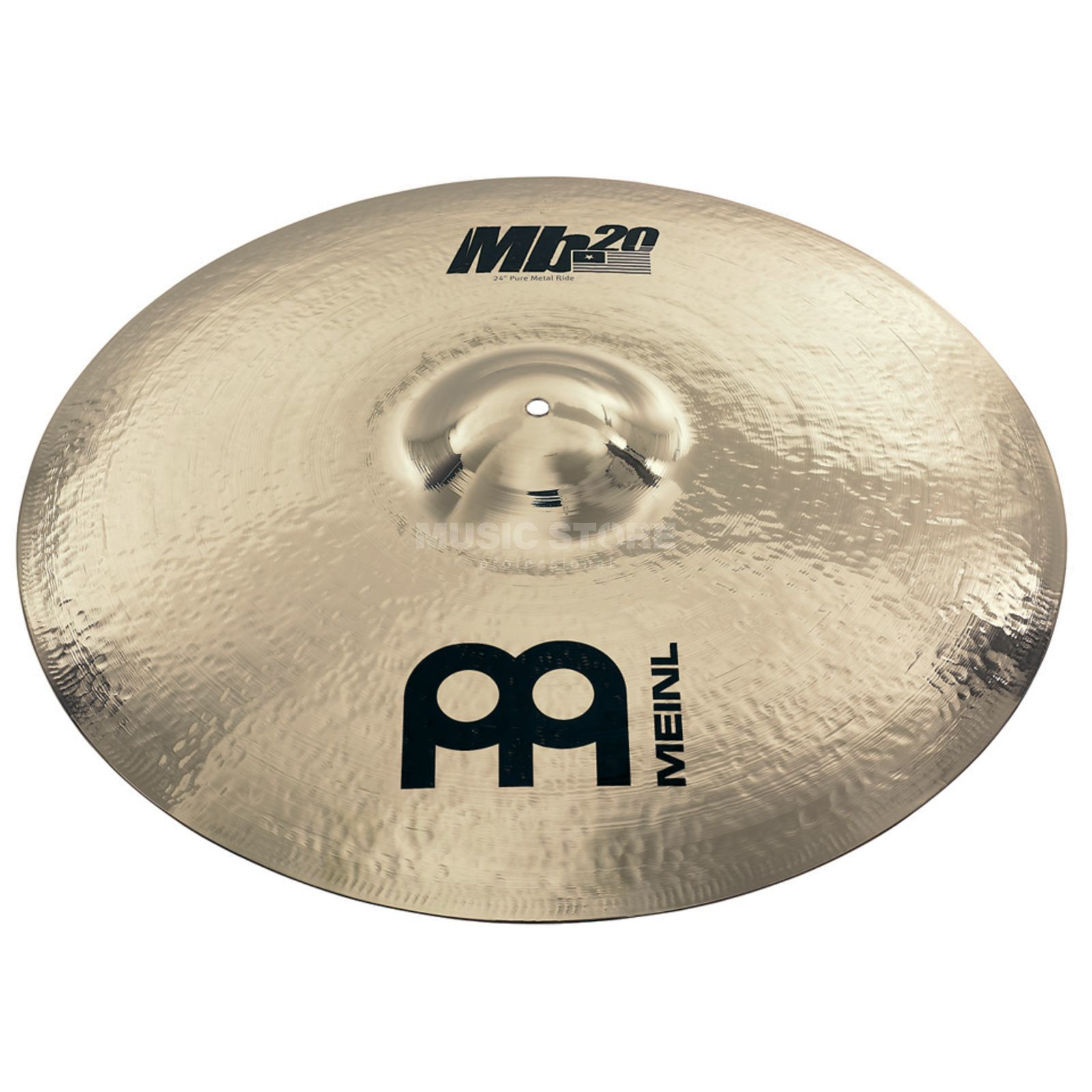 "Meinl MB20 Pure Metal Ride 24"" + Bag MB20-24PMR-B, Brilliant Finish Produktbillede"