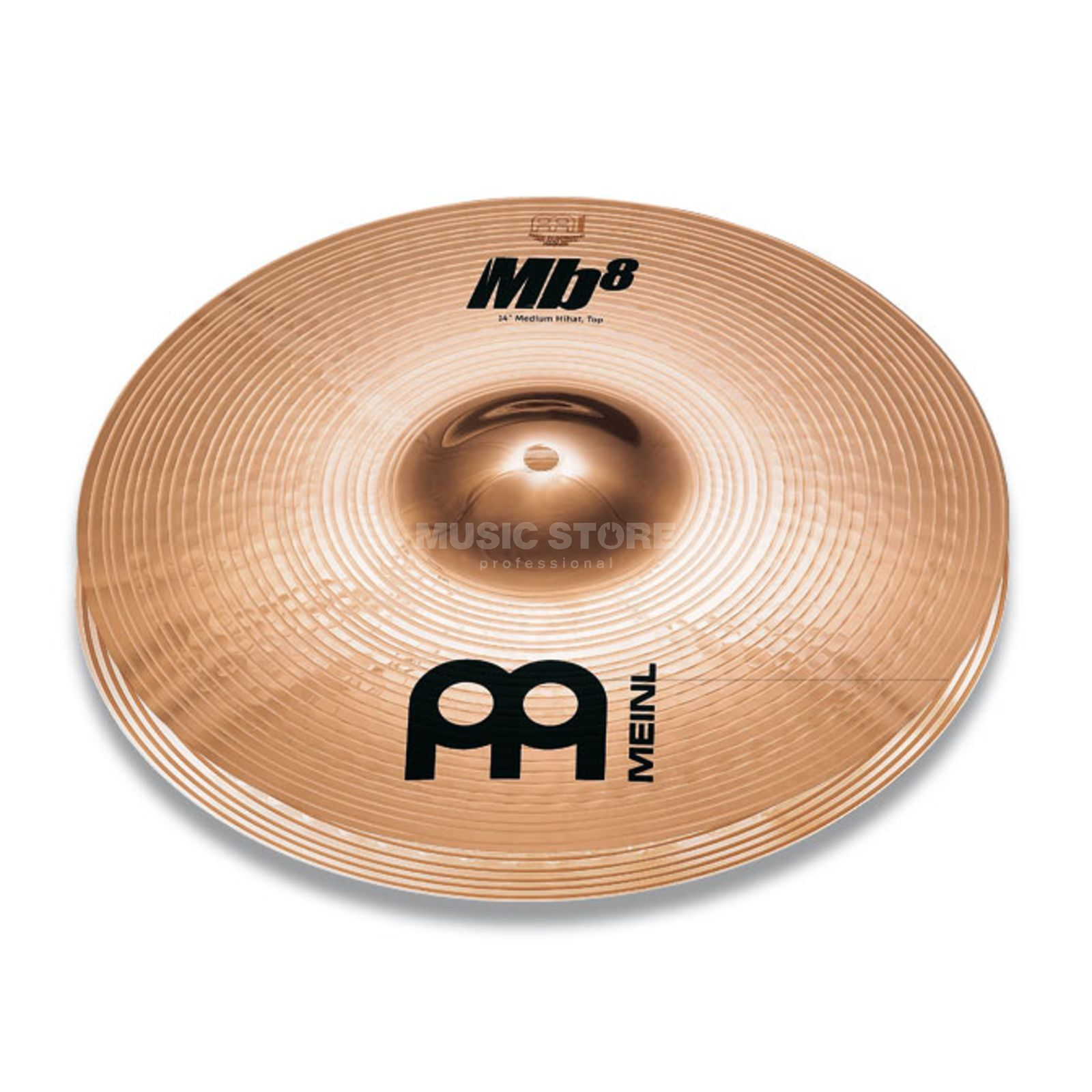 "Meinl MB8 Heavy HiHat 14"", MB8-14HH-B, Brilliant Finish Produktbillede"