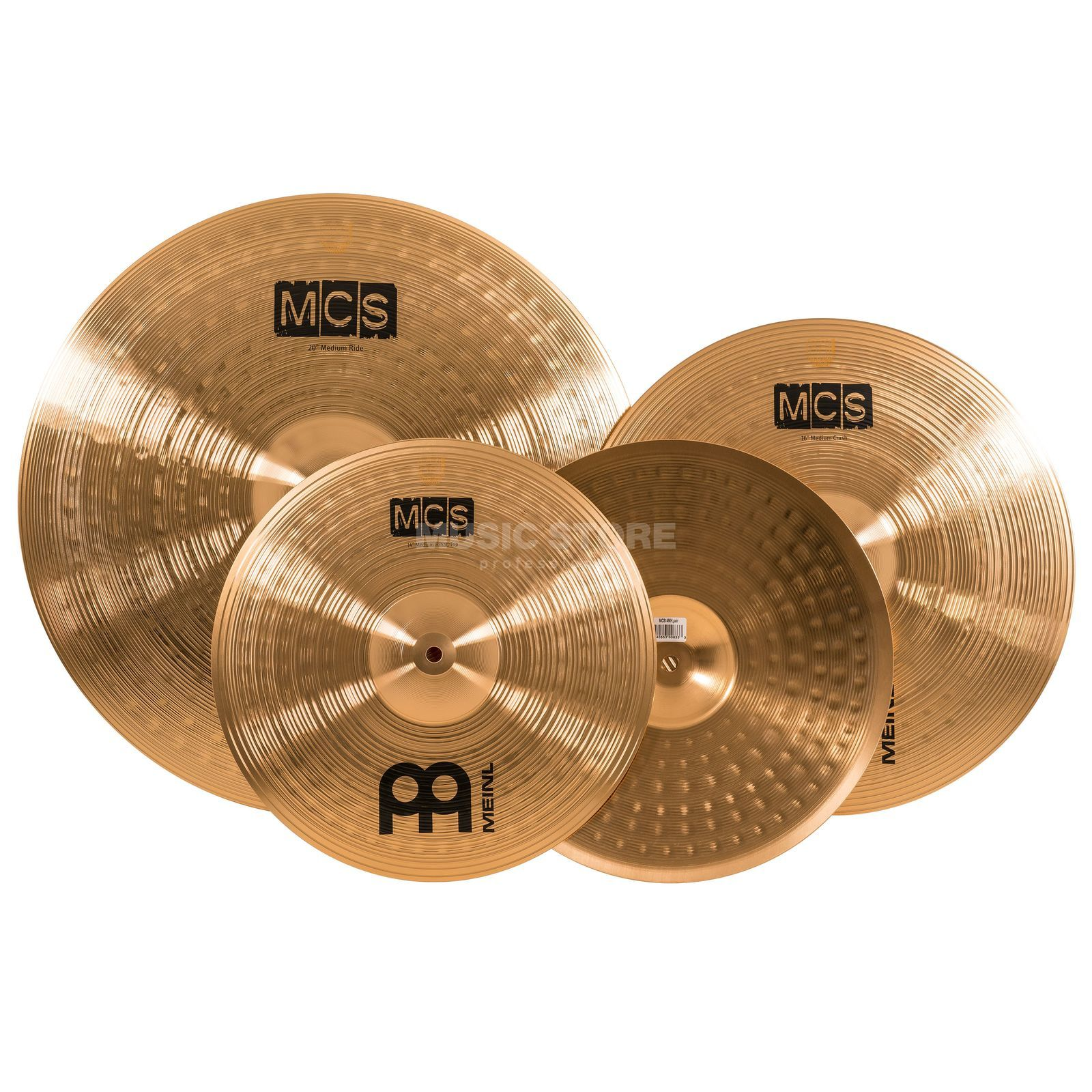 "Meinl MCS Cymbal Set, 20""R,16""CR,14""HH Product Image"