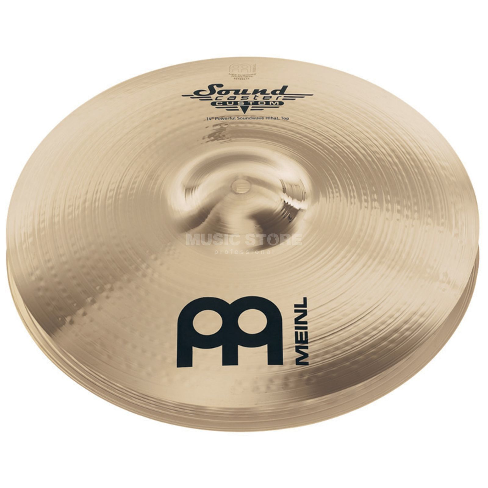 "Meinl SoundCaster Custom HiHat 14"" SC14PSW-B, Powerful, Soundwave Product Image"