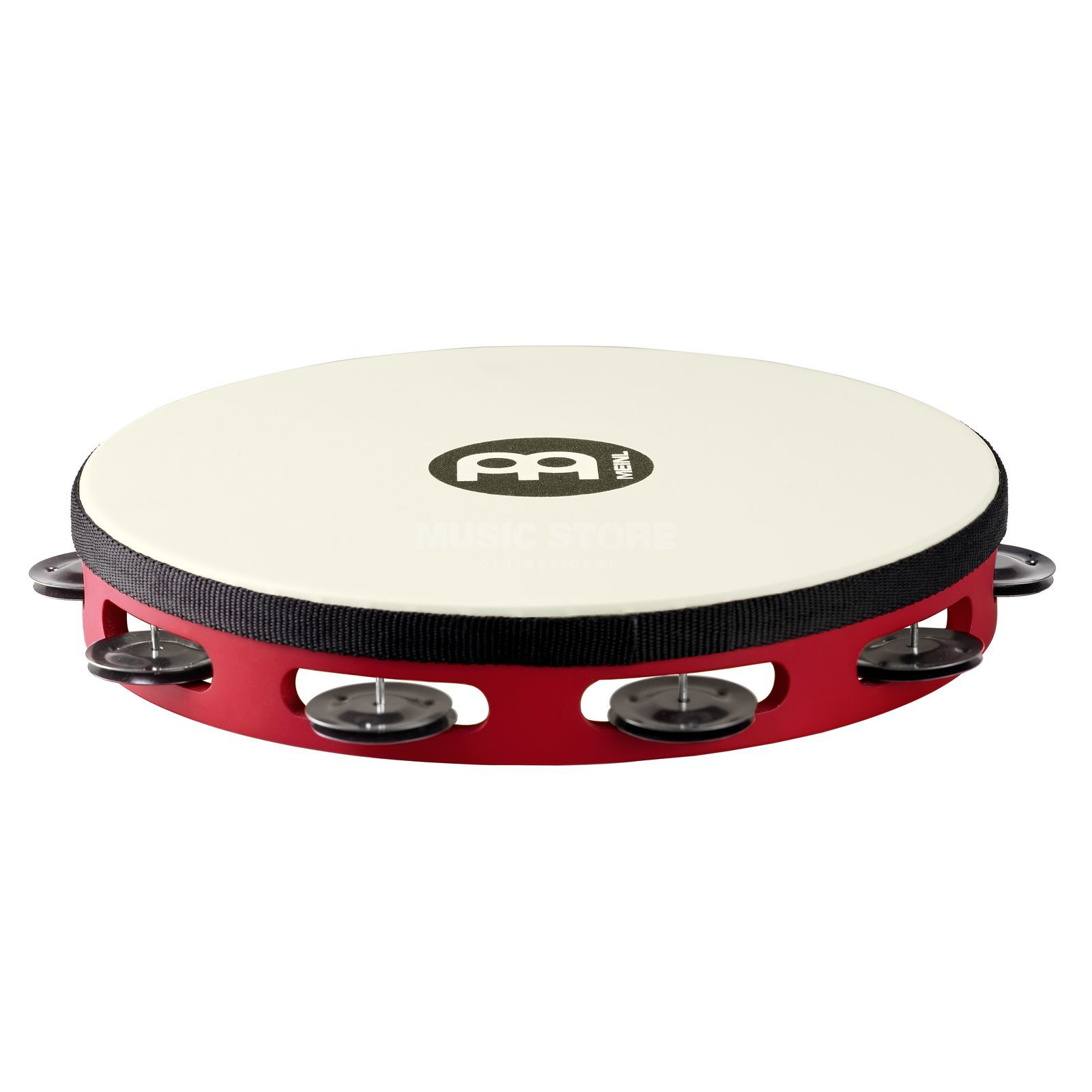 Meinl Touring Tambourine TAH1BK-R-TF Single Row, Steel, Red #R Produktbild