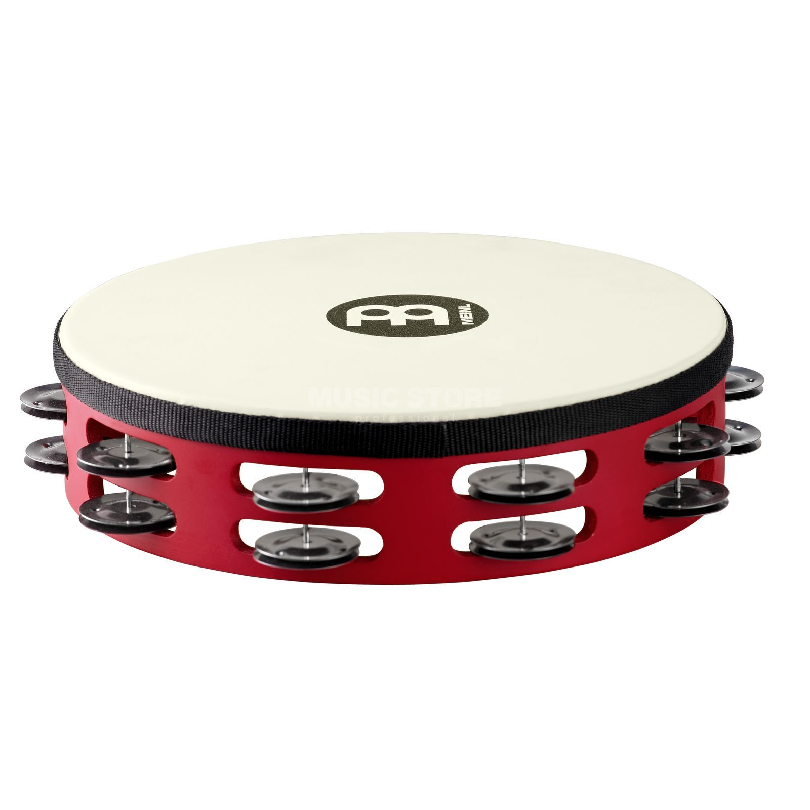 Meinl Touring Tambourine TAH2BK-R-TF Double Row, Steel, Red #R Produktbild