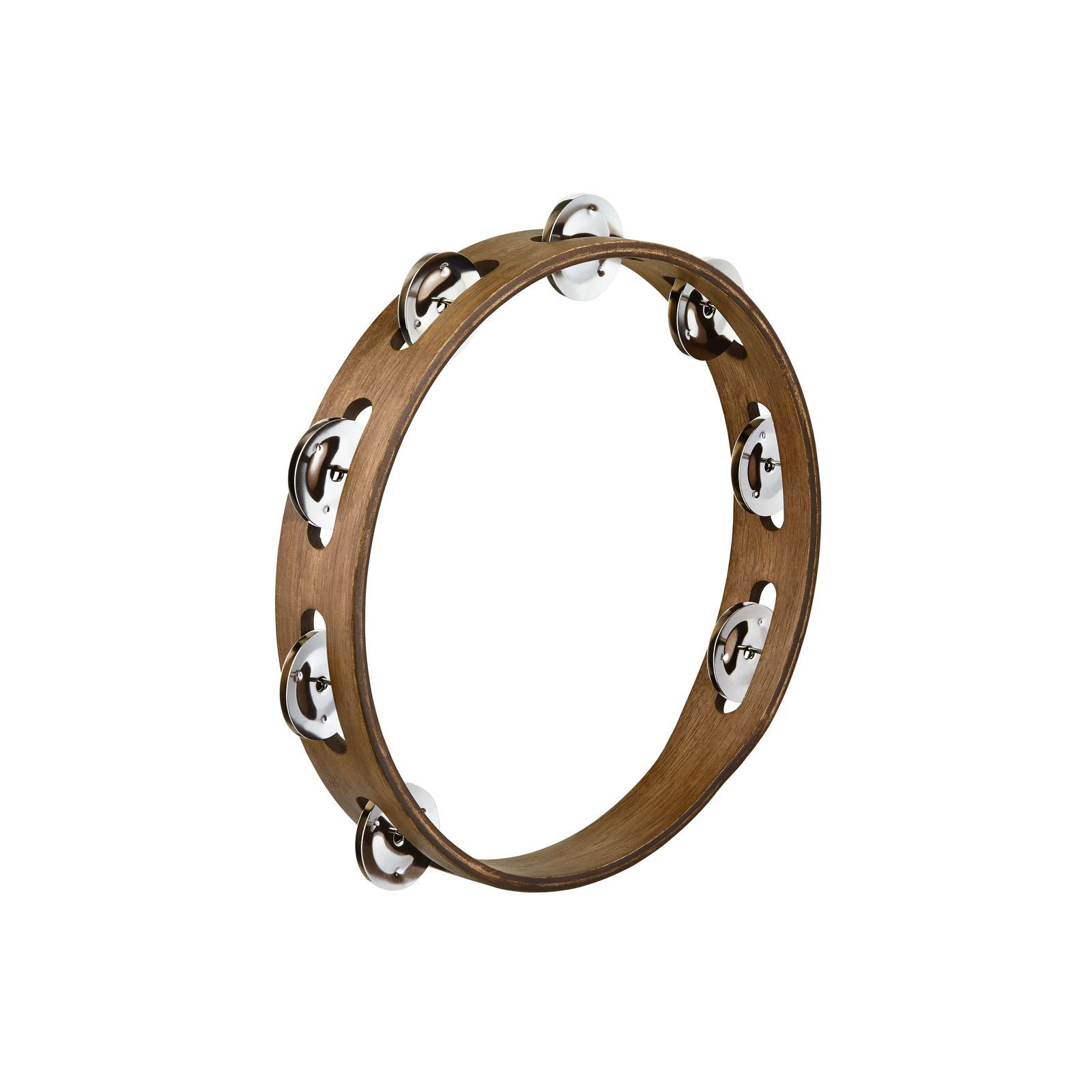 "Meinl Traditional Tambourine TA1WB, 10"", Single Row Product Image"