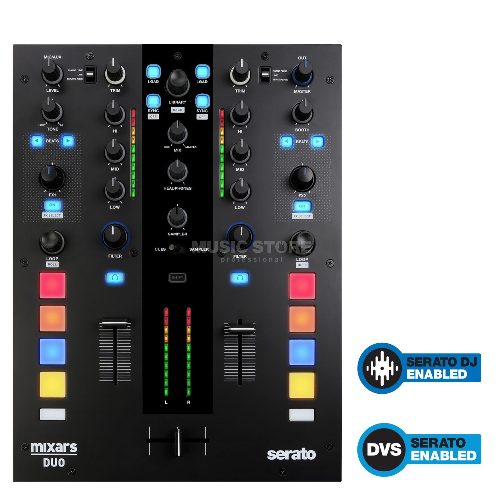 mixars DUO 2-Channel Serato Battle-Mixer Produktbild
