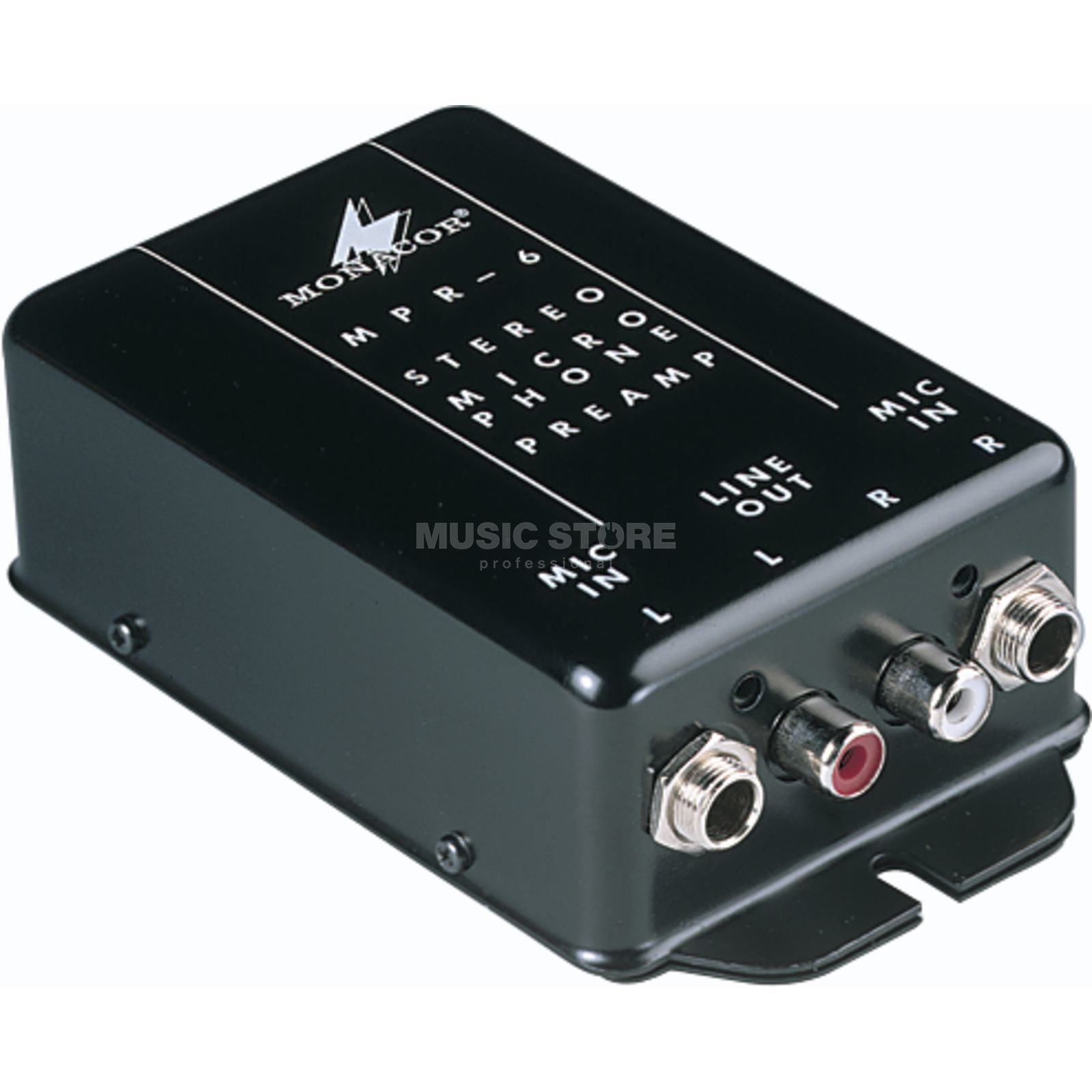 Monacor MPR-6/ Mic- Amplifier, f.Connect.of 2 Mics to a Line Immagine prodotto