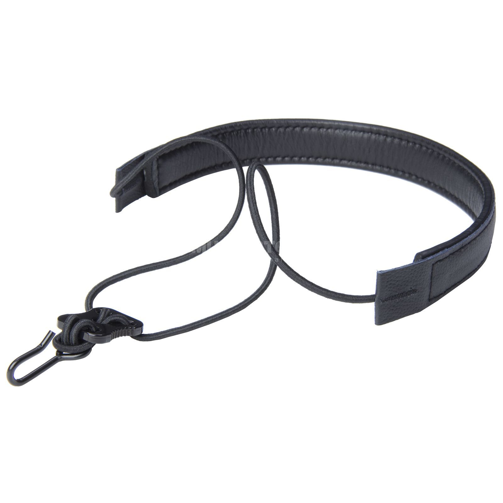 Monzani Elastic Strap f. Clarinet Cow Leather, Black Produktbillede