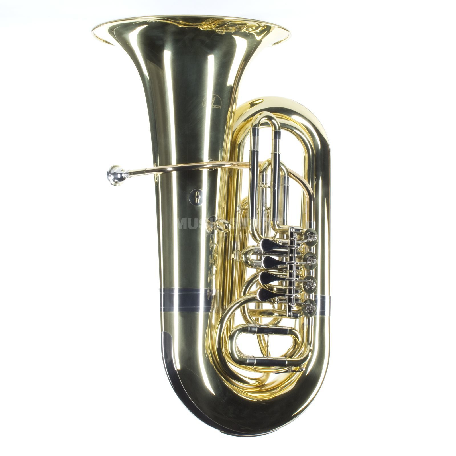 Monzani MZBB-210L Bb-Tuba messing, Lackiert, 4 Ventile Productafbeelding