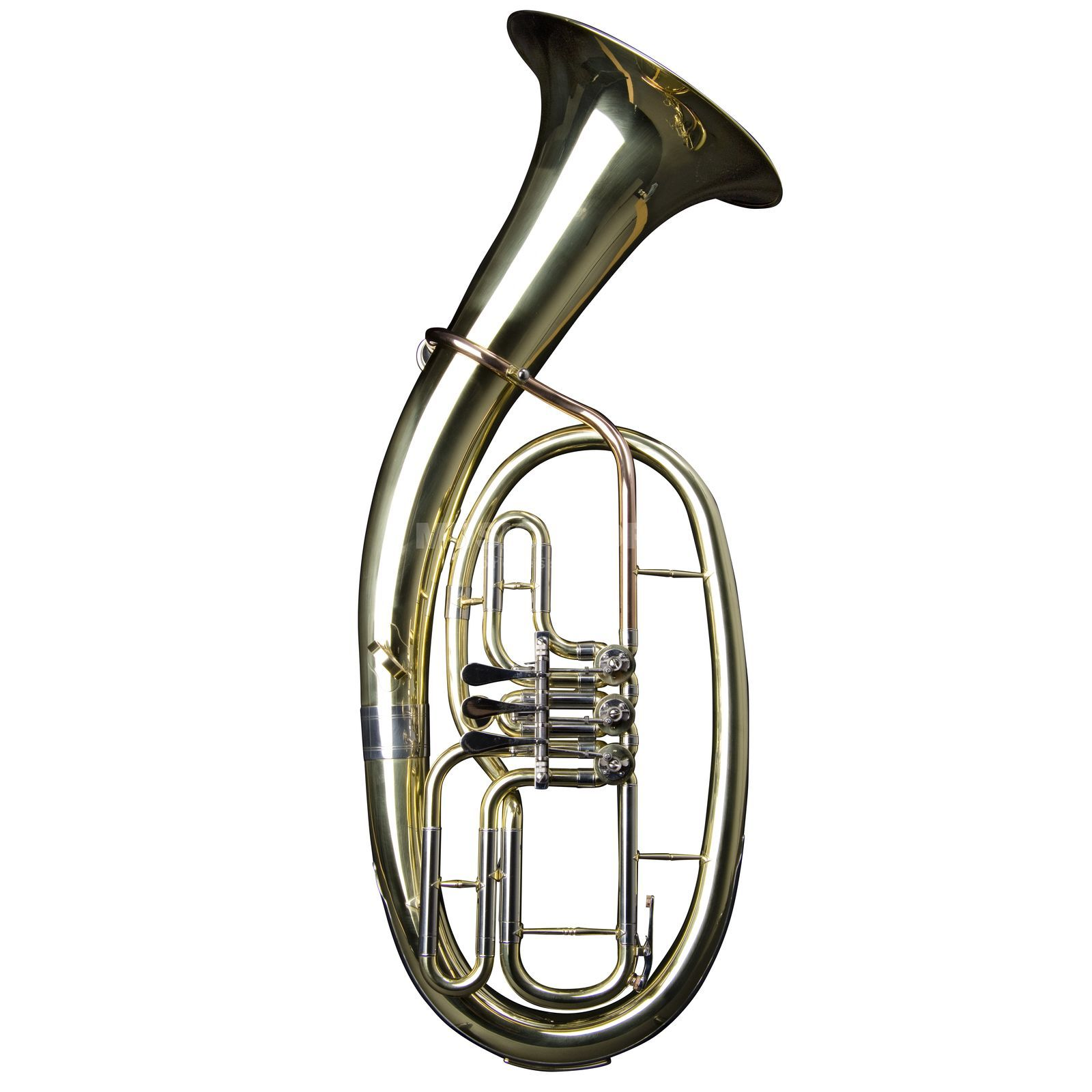 Monzani MZBR-1211L Bb-Tenorhorn messing, Lackiert, 3 Ventile Productafbeelding