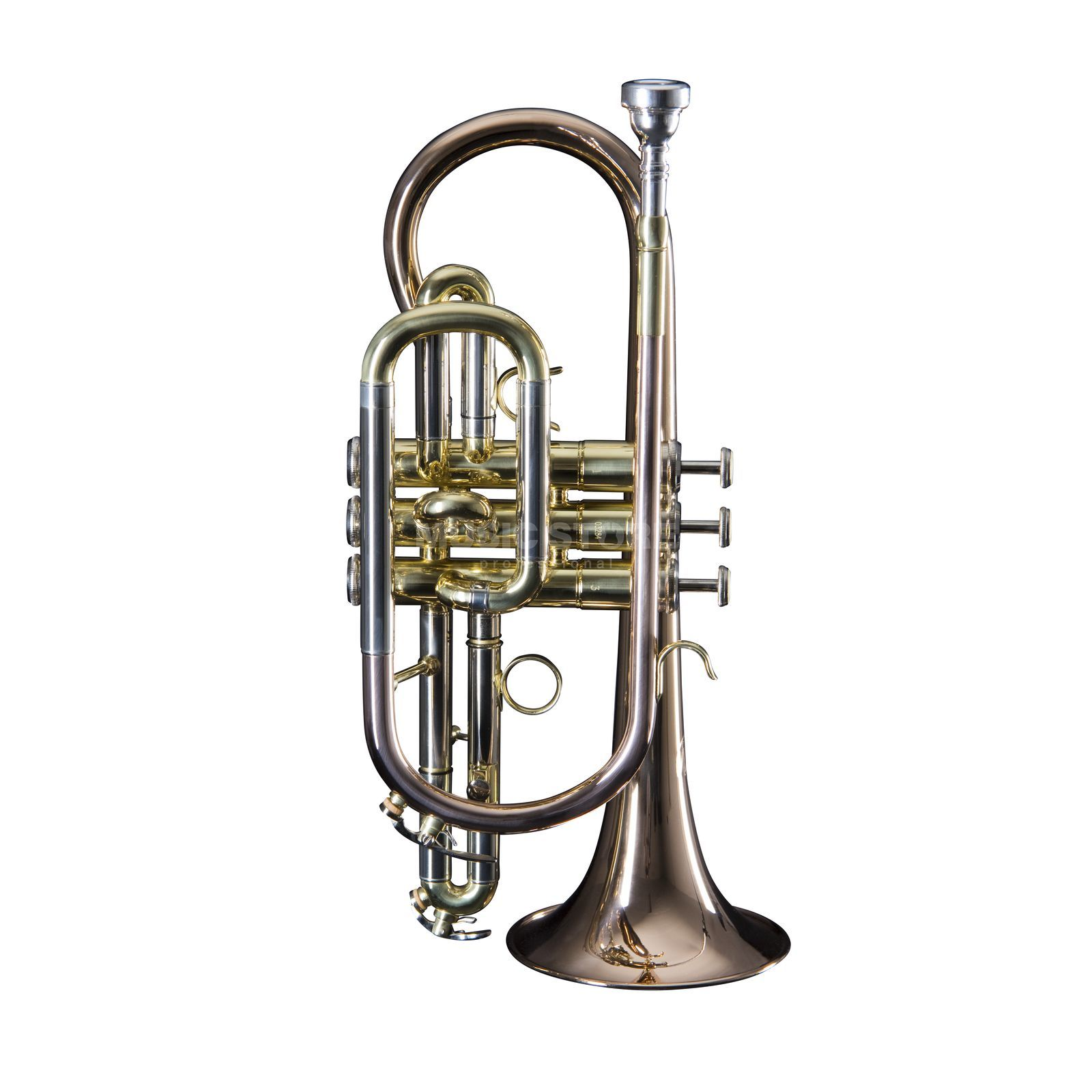Monzani MZCR-333 Bb-Cornet Copper, Gold Lacquer Product Image