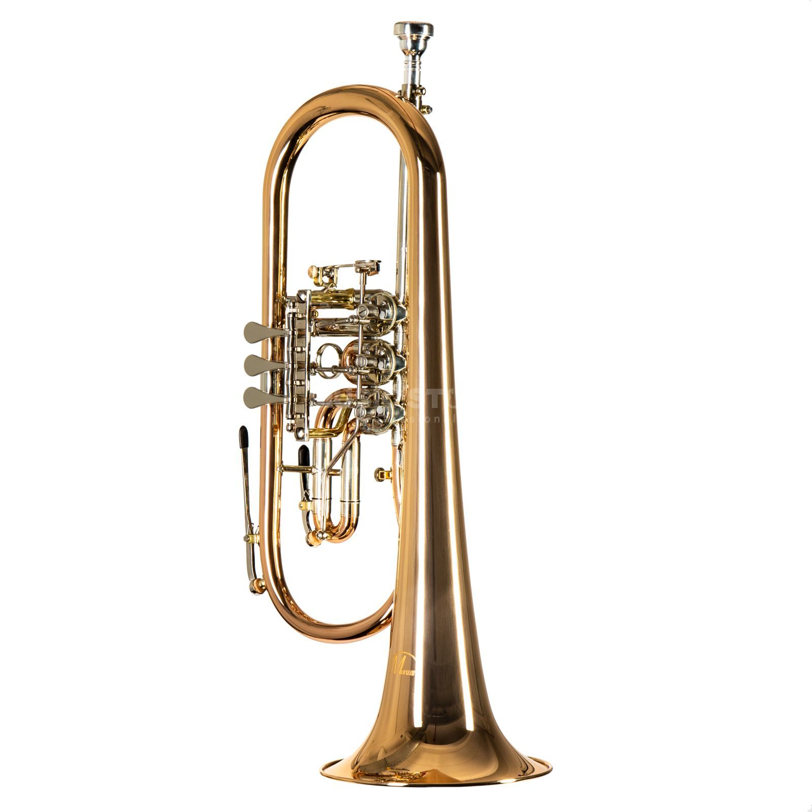Monzani MZFH-1050L Bb-Flugel Horn Yellow Brass Изображение товара