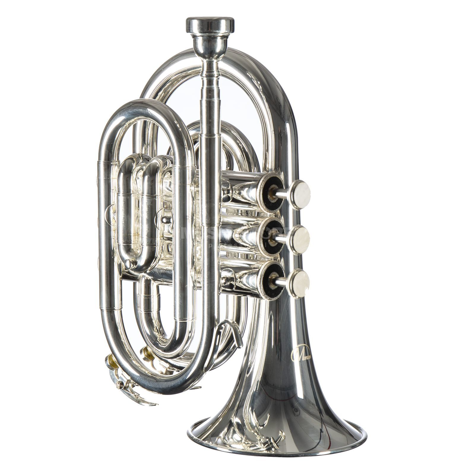 Monzani MZMT-500S Bb-Pocket Trumpet Silverplate Изображение товара