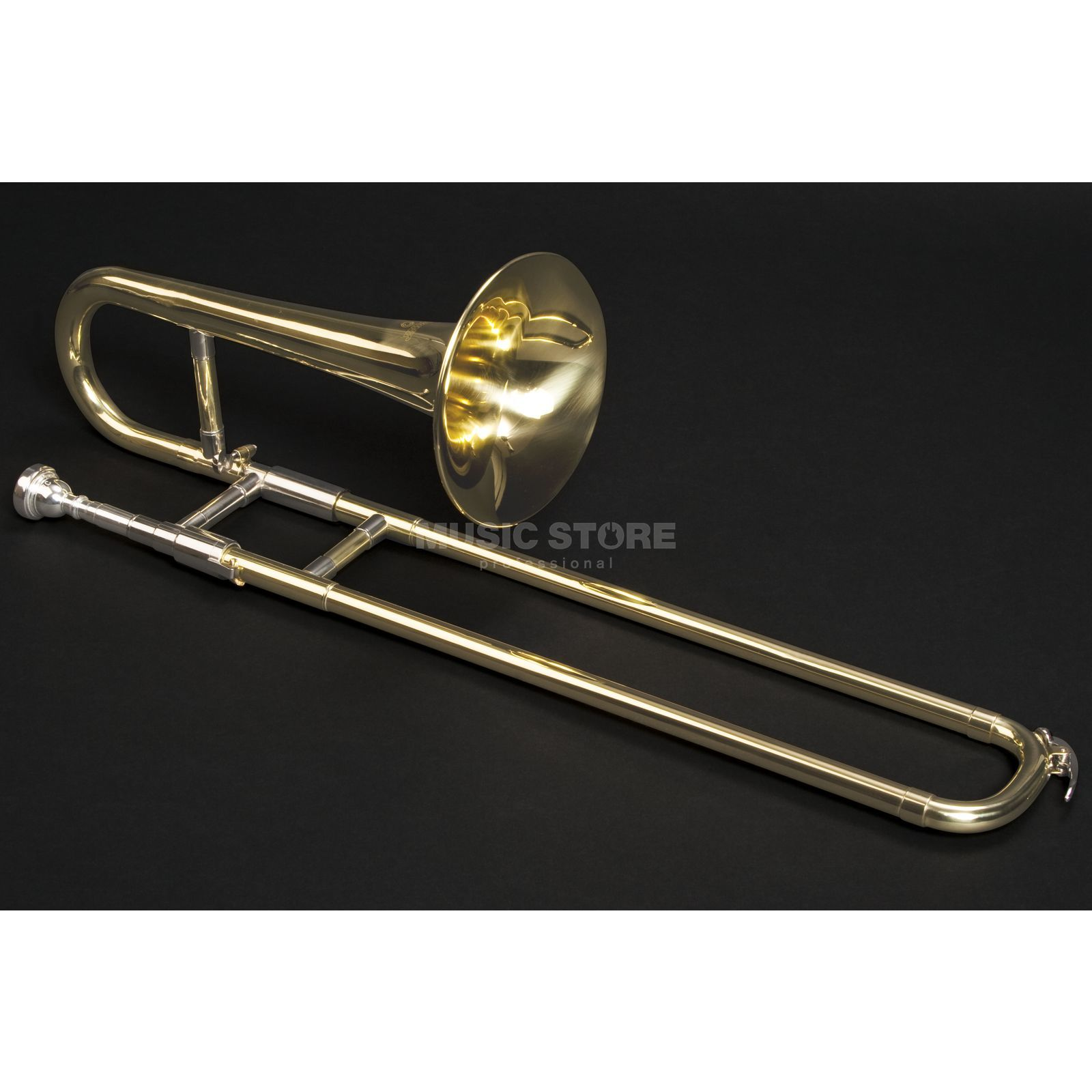 Monzani MZST-1800L Bb-Slide Trumpet Brass, Lacquered Изображение товара