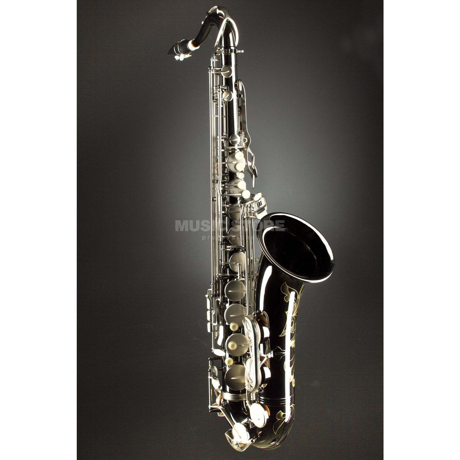 Monzani MZTS-333BN Bb-Tenor Saxophone Brass, Black Nickel Plated Zdjęcie produktu