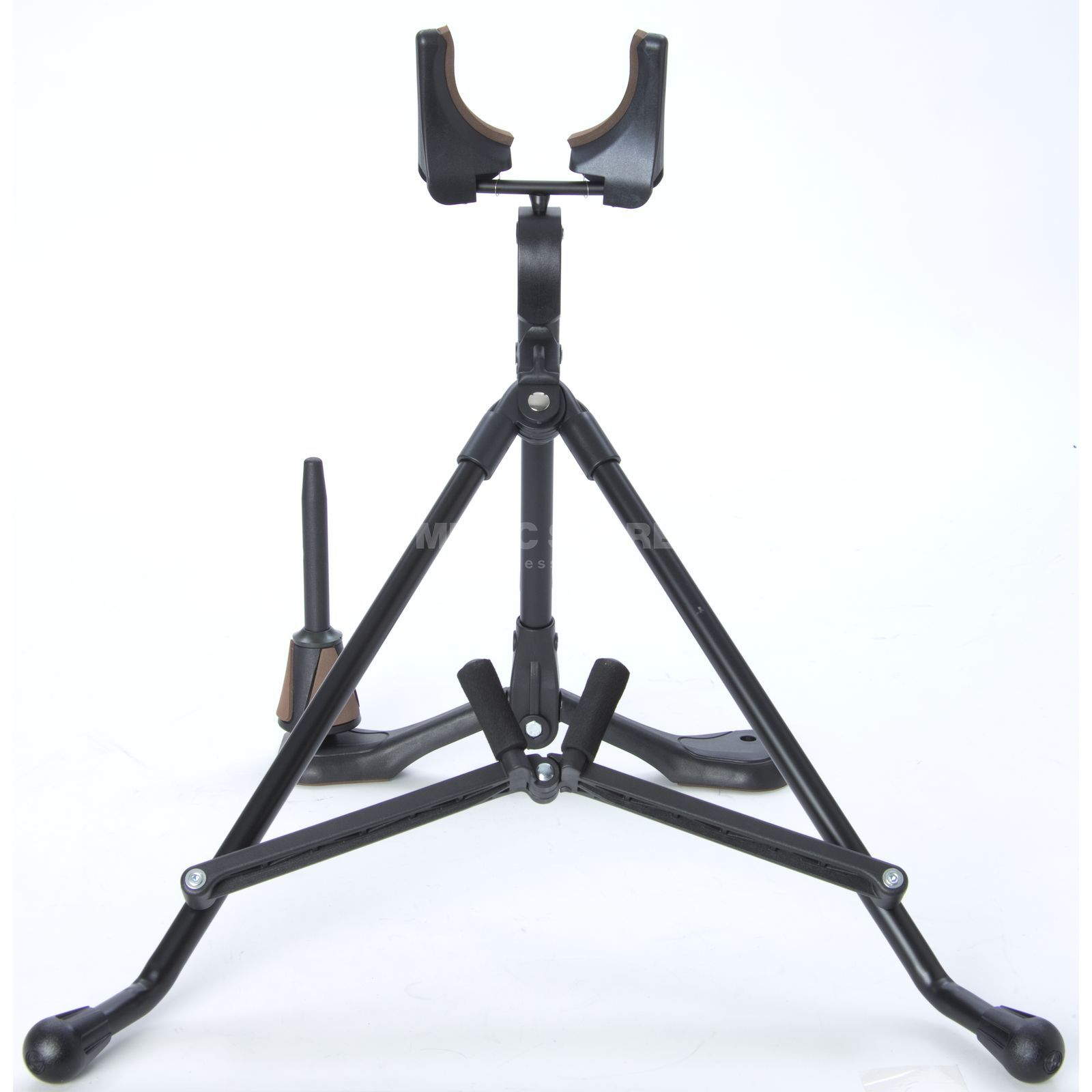 Monzani TX-826 Tenor Saxophone Stand With Clarinet Pin Product Image