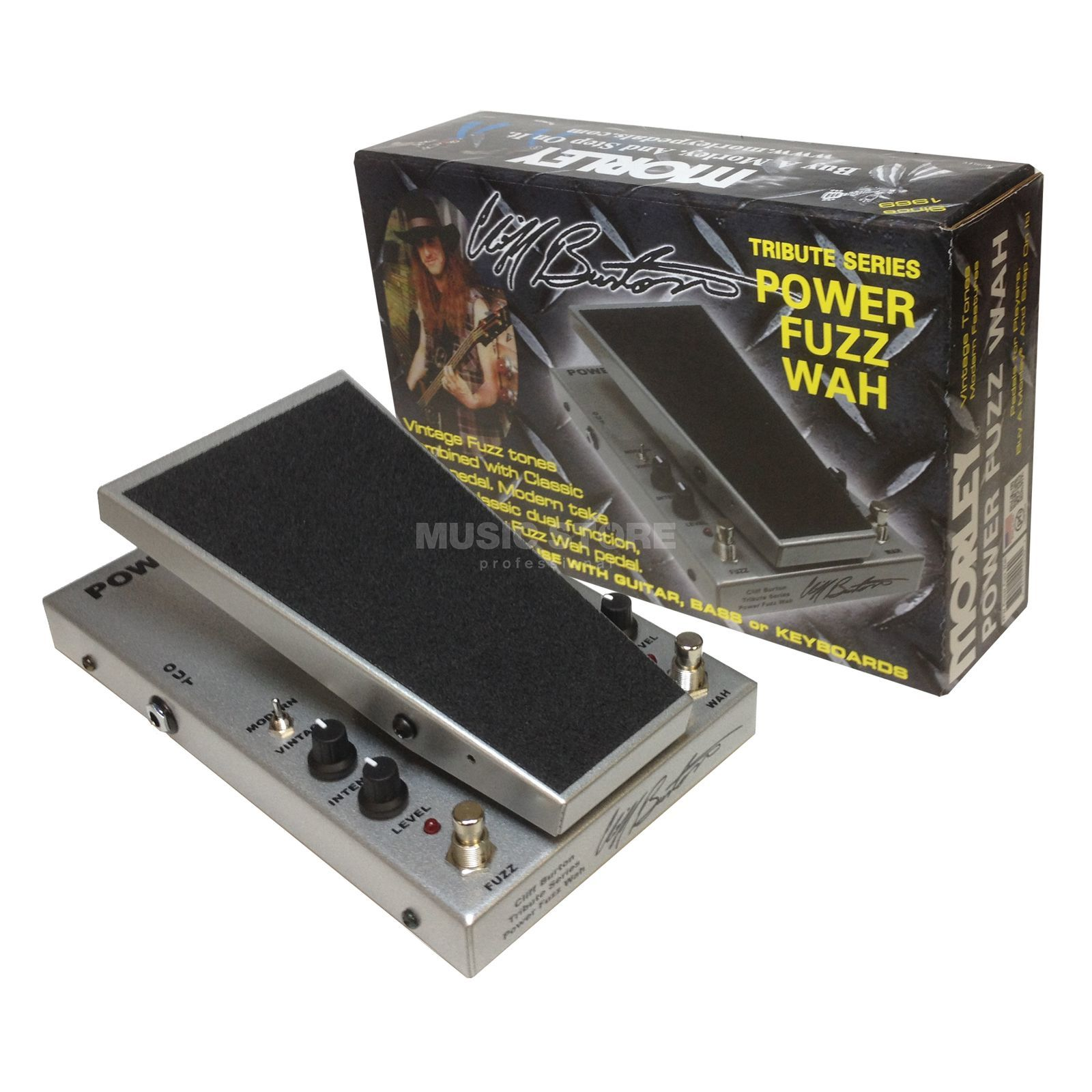 MORLEY M2 Cliff Burton Tribute Power Fuzz Wah Produktbild