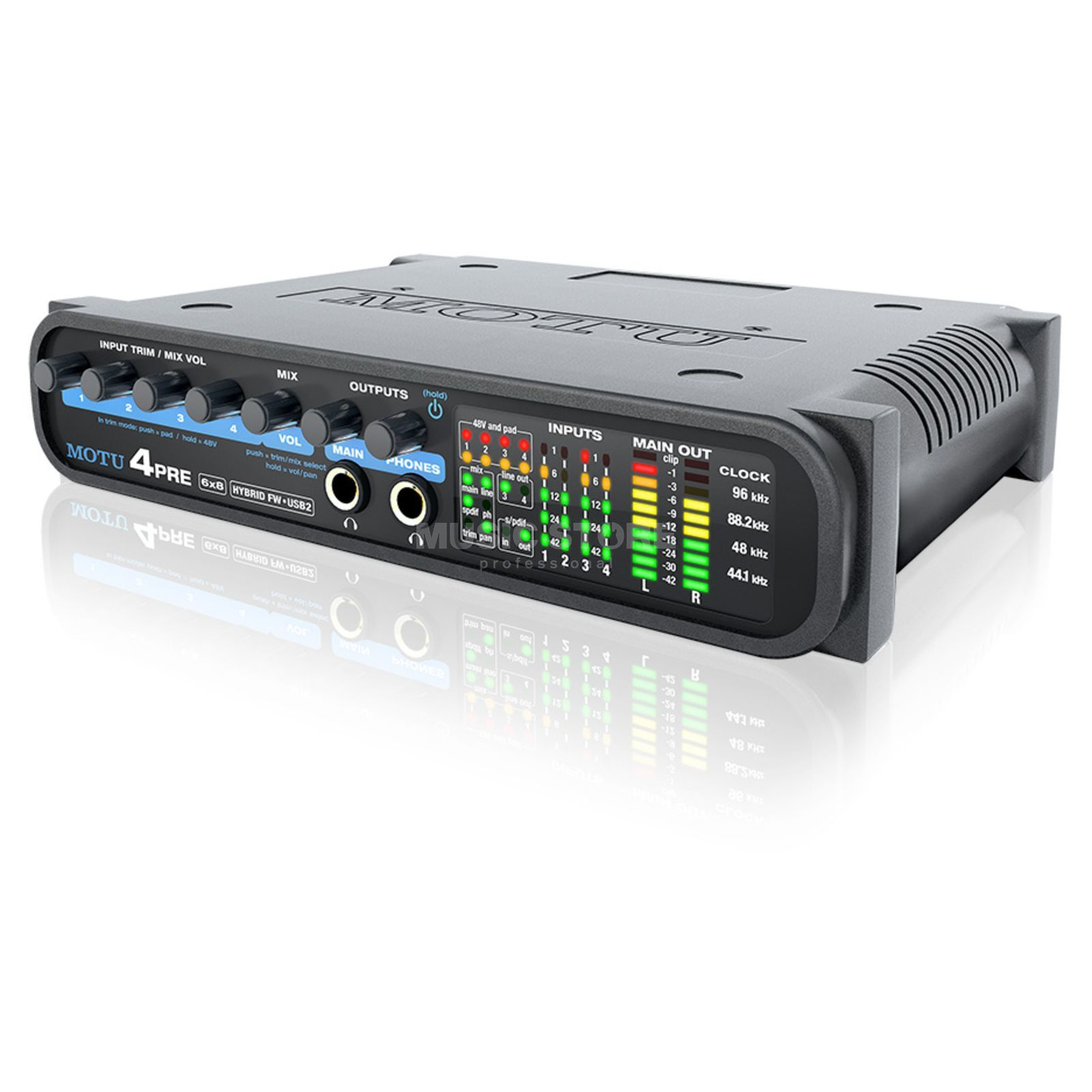 MOTU 4pre 6x8 USB 2.0 & FireWire Audio Interface Produktbillede