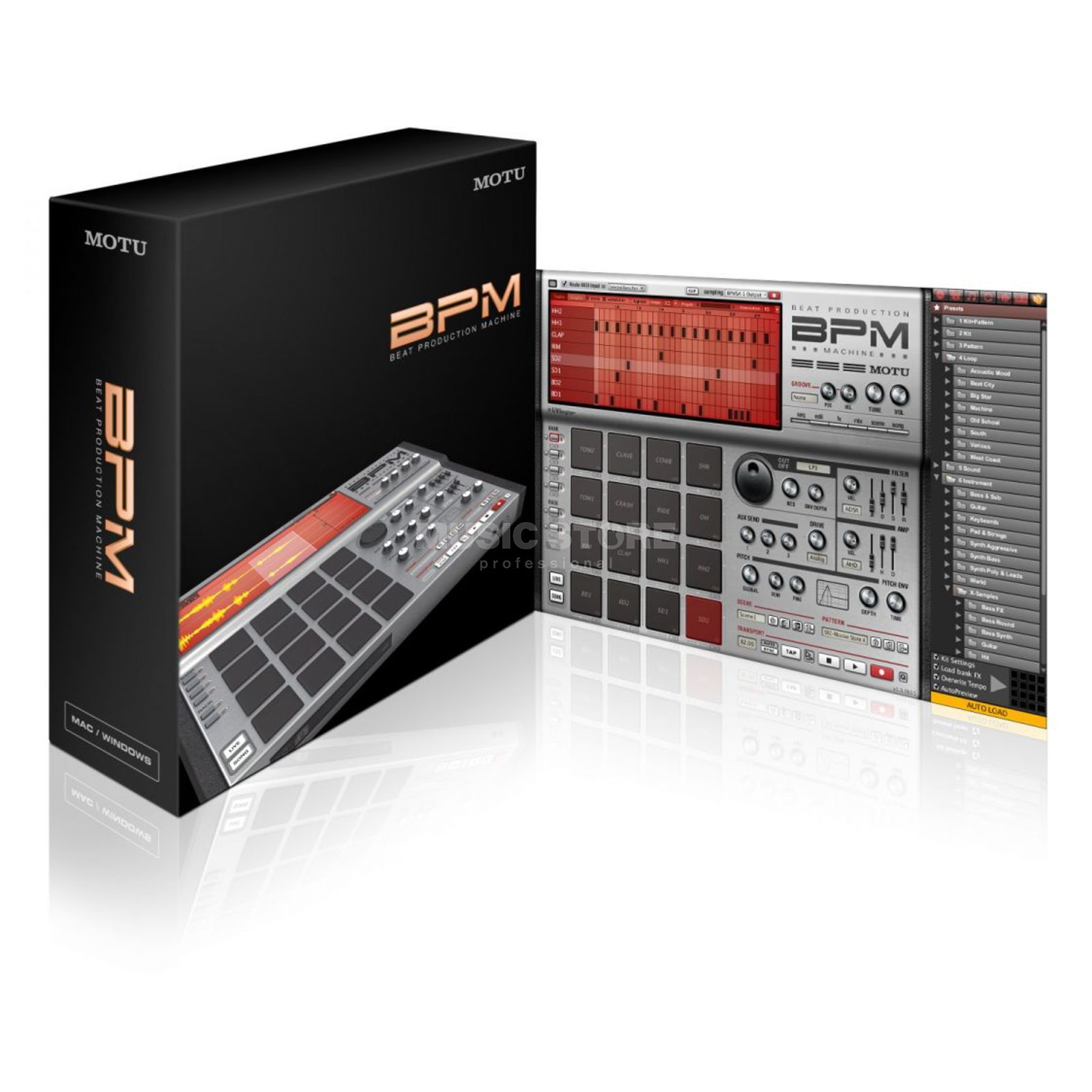 MOTU BPM Beat Production Machine AU, VST, RTAS for Mac & PC Produktbillede