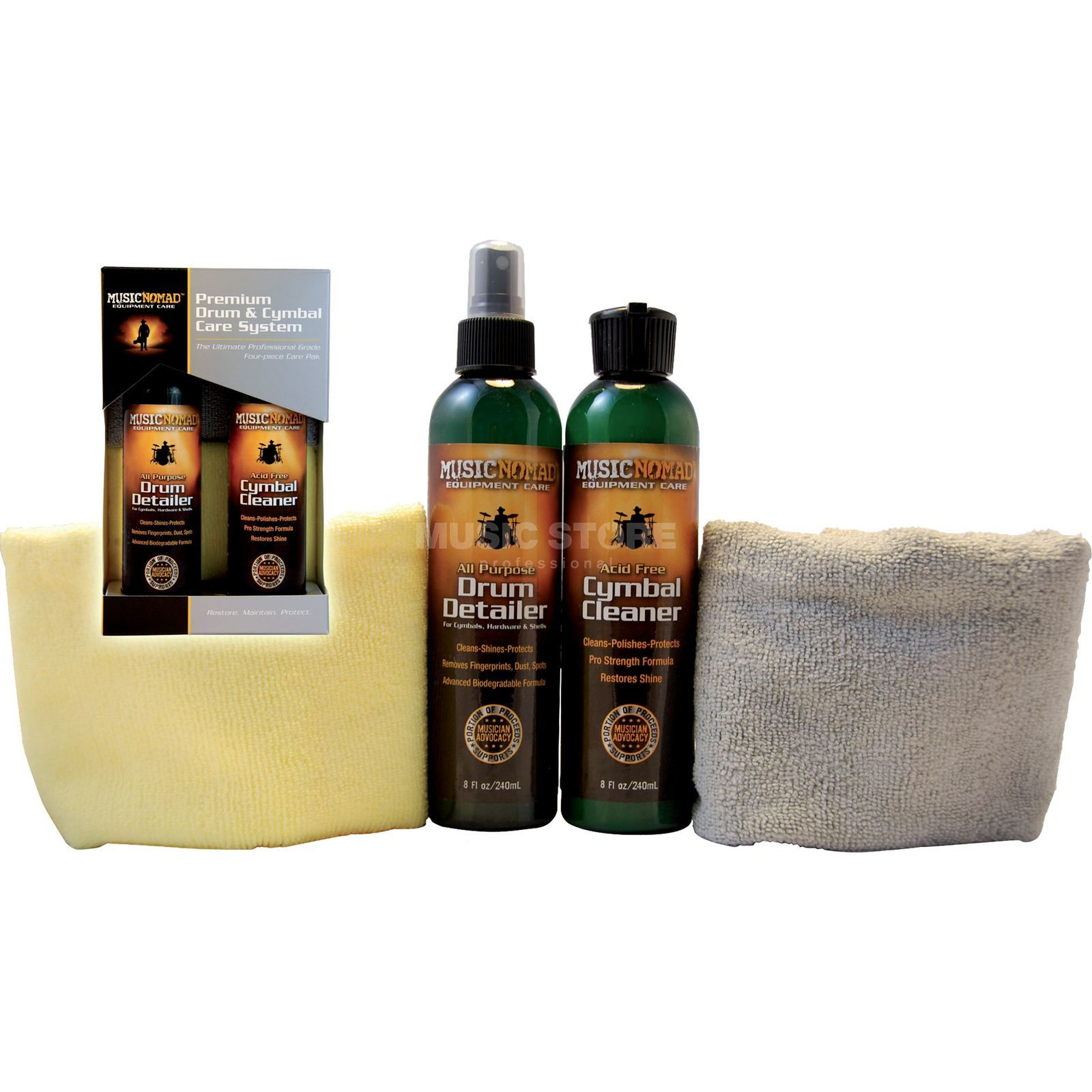 Music Nomad MN112 Drum & Cymbal Care Kit 2 x 240 ml Product Image