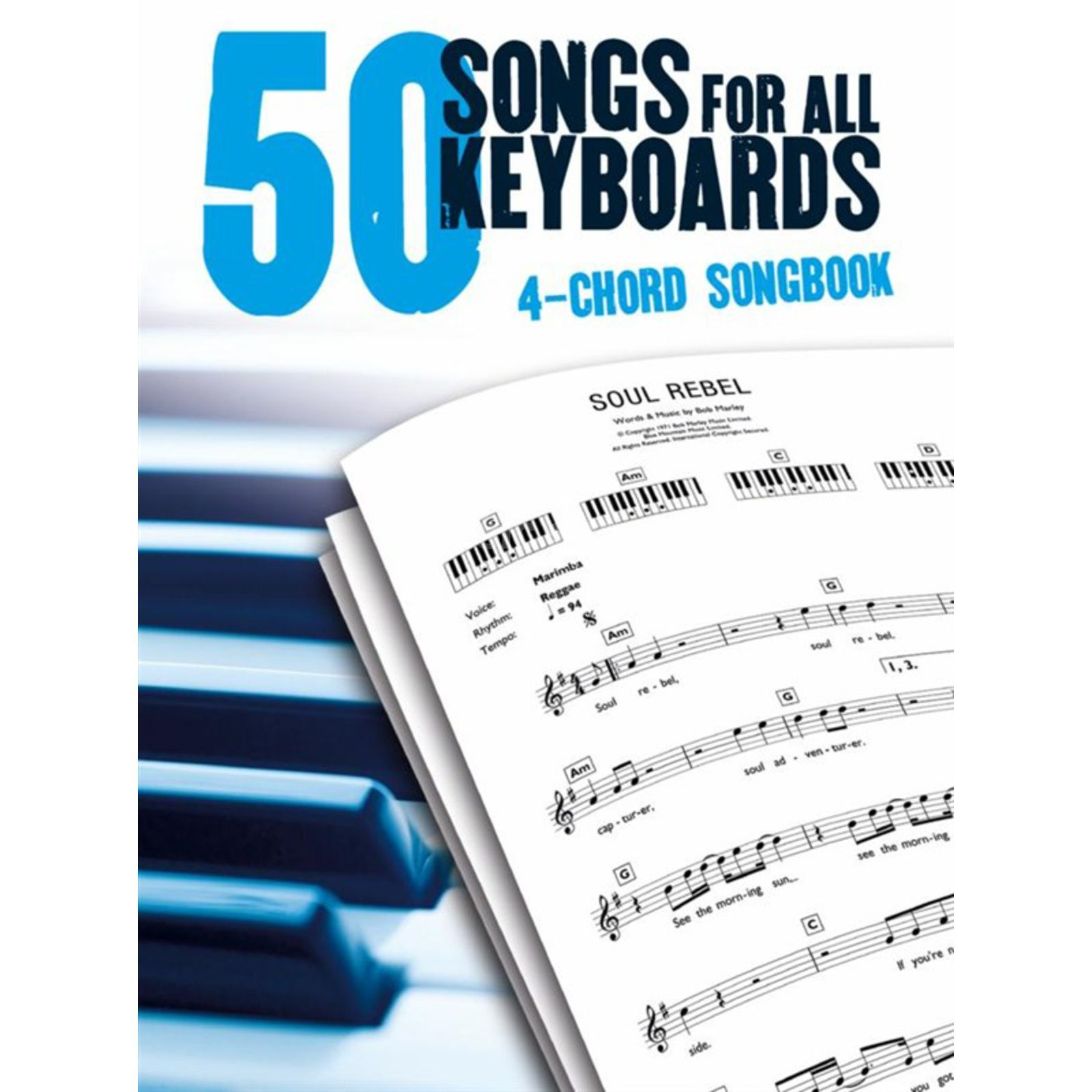Music Sales 50 Songs For All Keyboards In Only 4 Chords Produktbild
