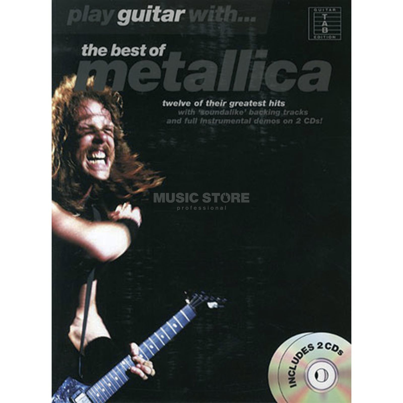 Music Sales Play guitar with: Metallica TAB/CD Produktbild