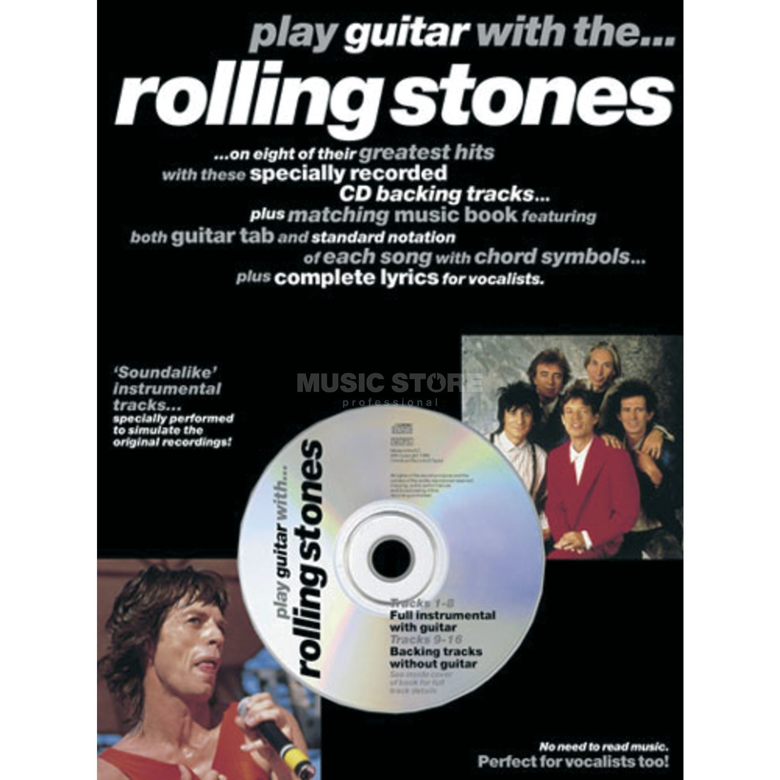 Music Sales Play guitar with: Stones TAB/CD Produktbild
