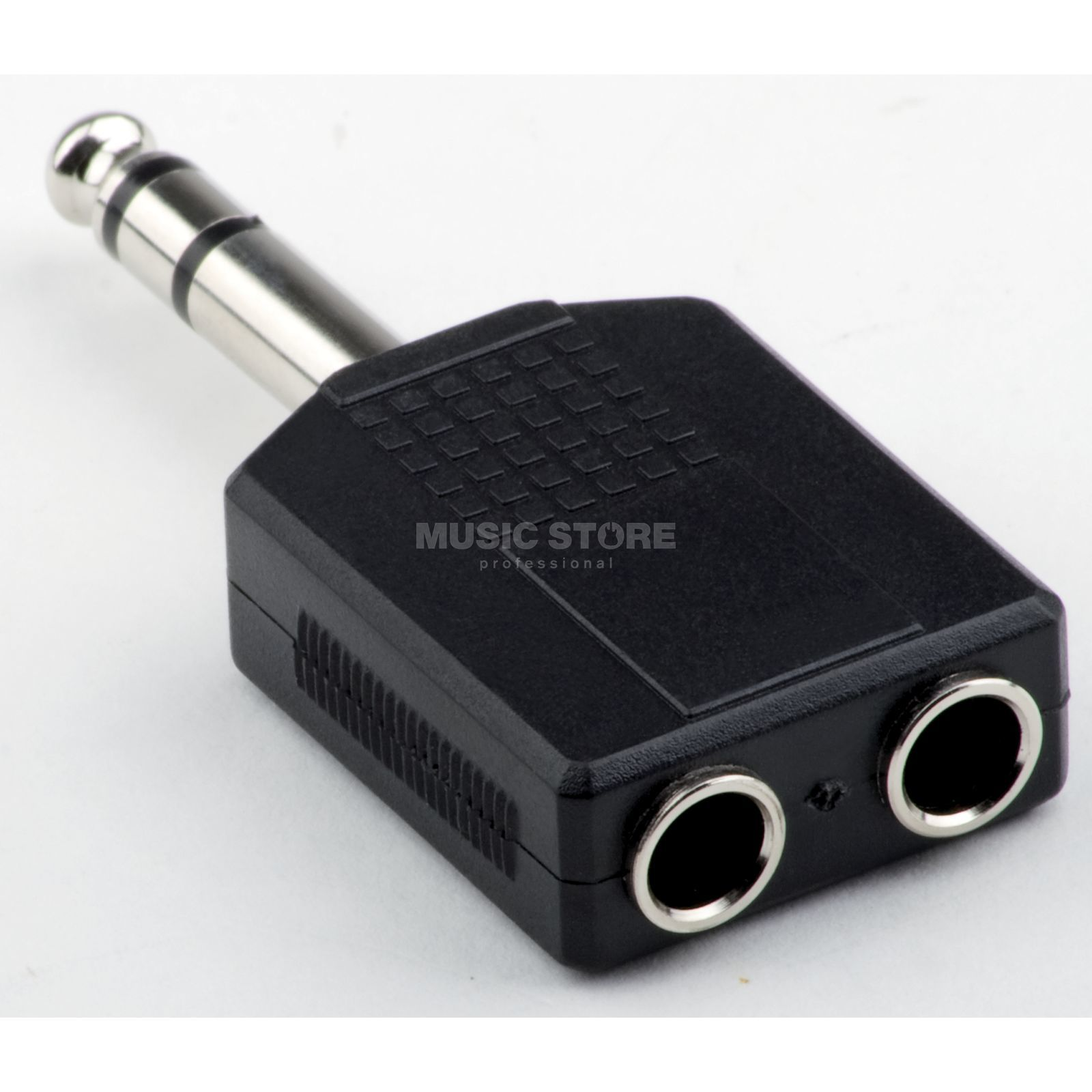 MUSIC STORE Adaptor Dual Stereo Female 6.3mm Jack To 6.3mm Jack Produktbillede
