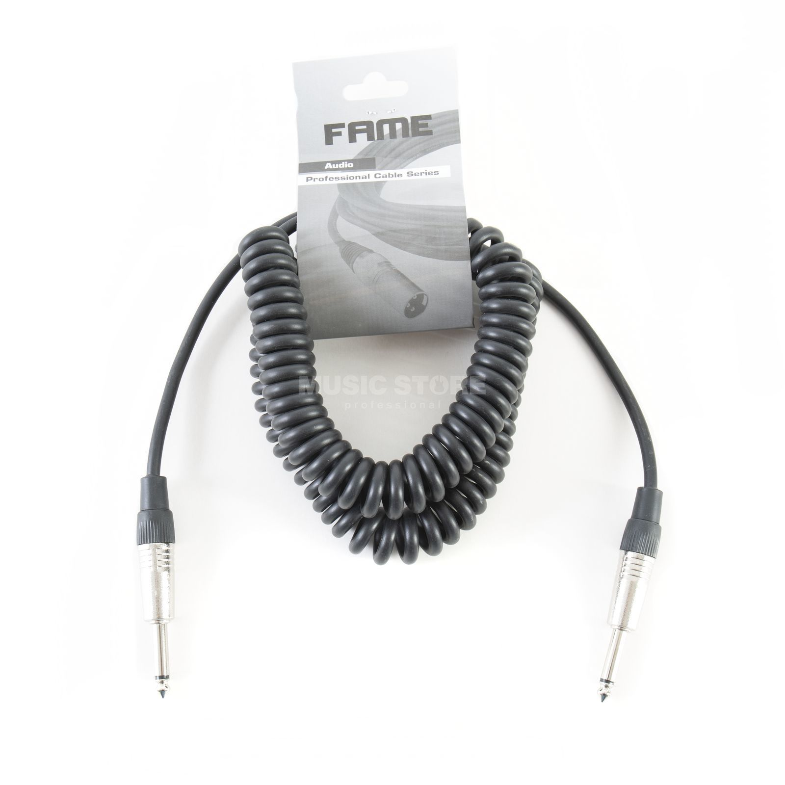 MUSIC STORE Coiled Instrument Cable 6m Jack Produktbillede