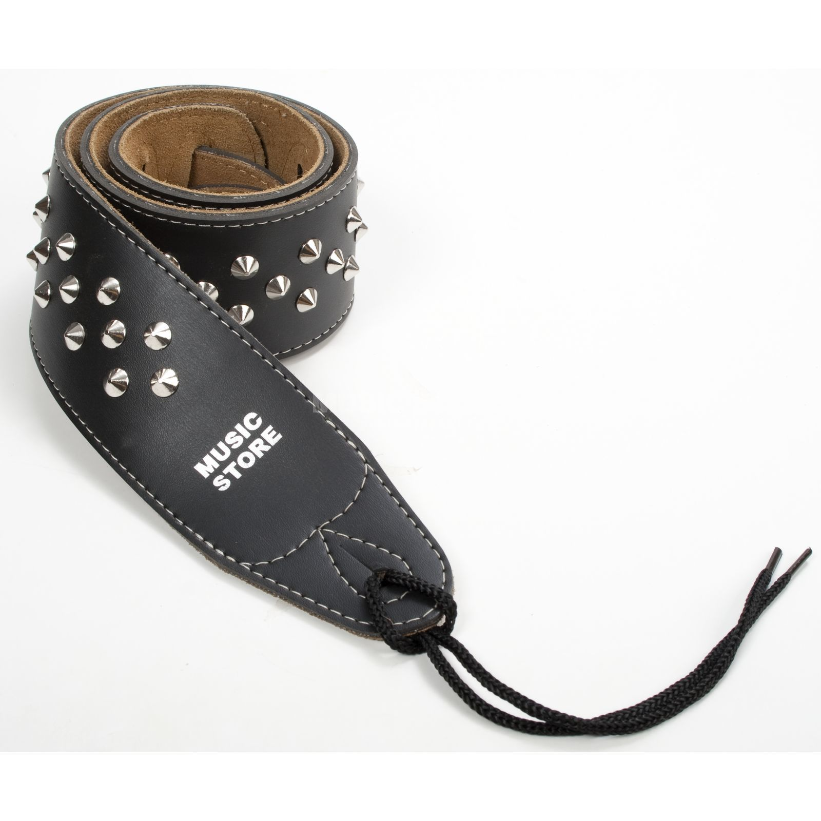 MUSIC STORE Guitar Strap 4663 Black Leather Produktbillede