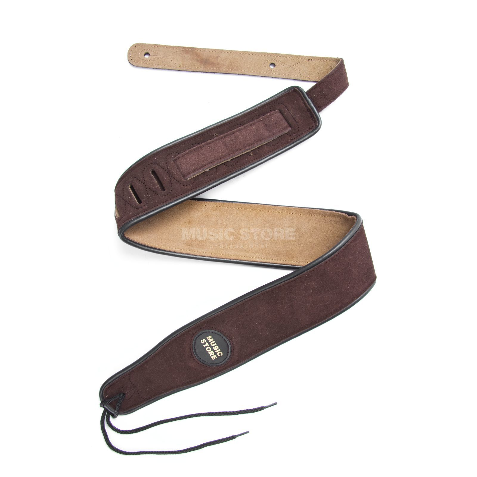 MUSIC STORE Guitar Strap 801 F Brown Suede - Heavy Version Produktbillede