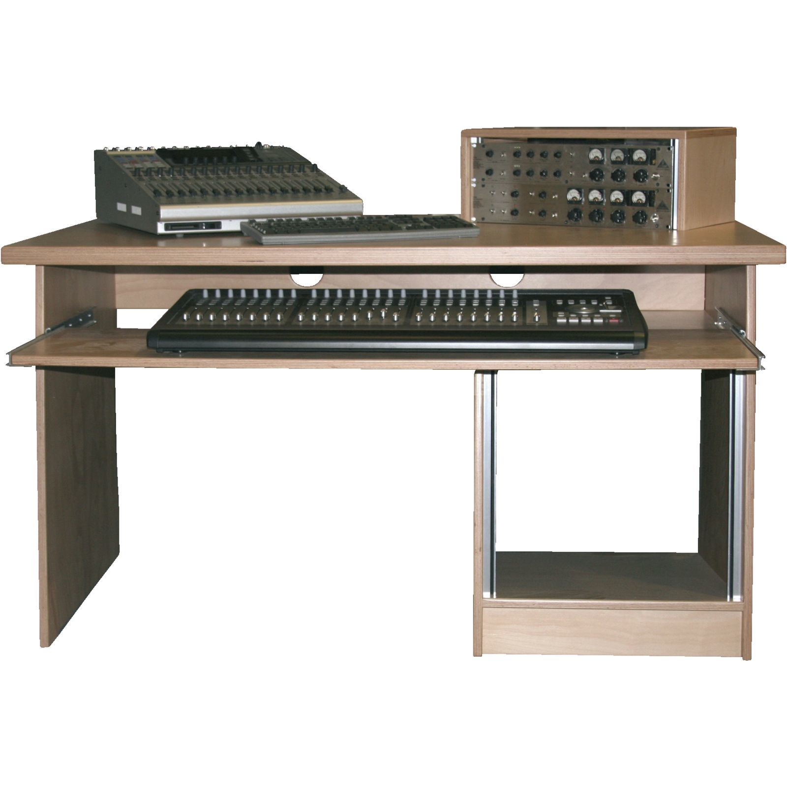 MUSIC STORE MINIstation Production Table Beech lack., 1.5x0.9m, 10HU-UB Produktbillede