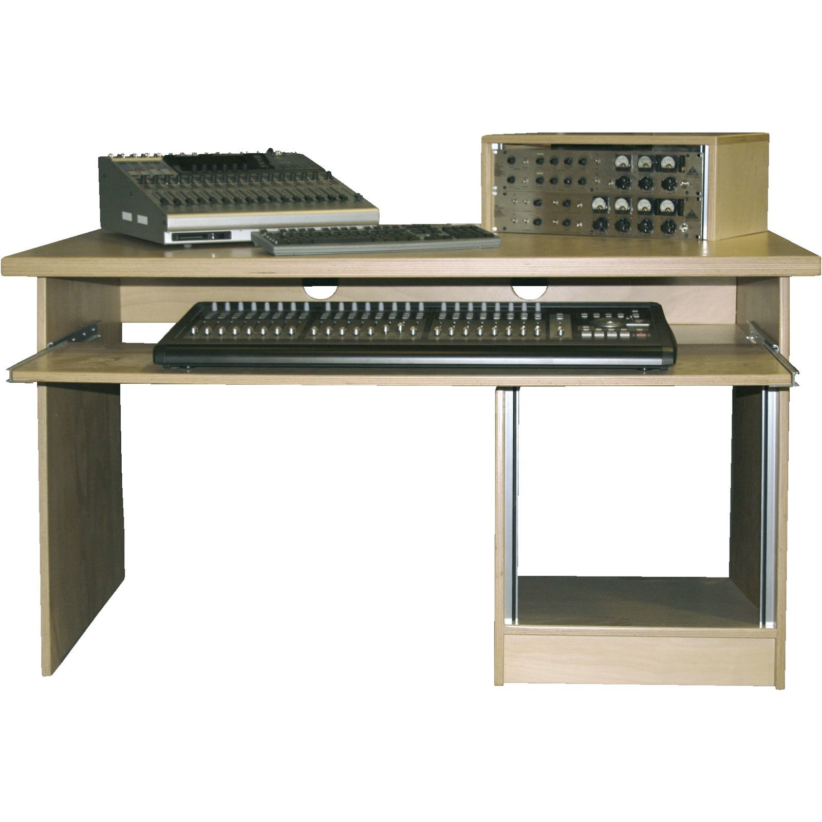 MUSIC STORE MINIstation Production Table Birch lack., 1.5x0.9m, 10HU-UB Produktbillede